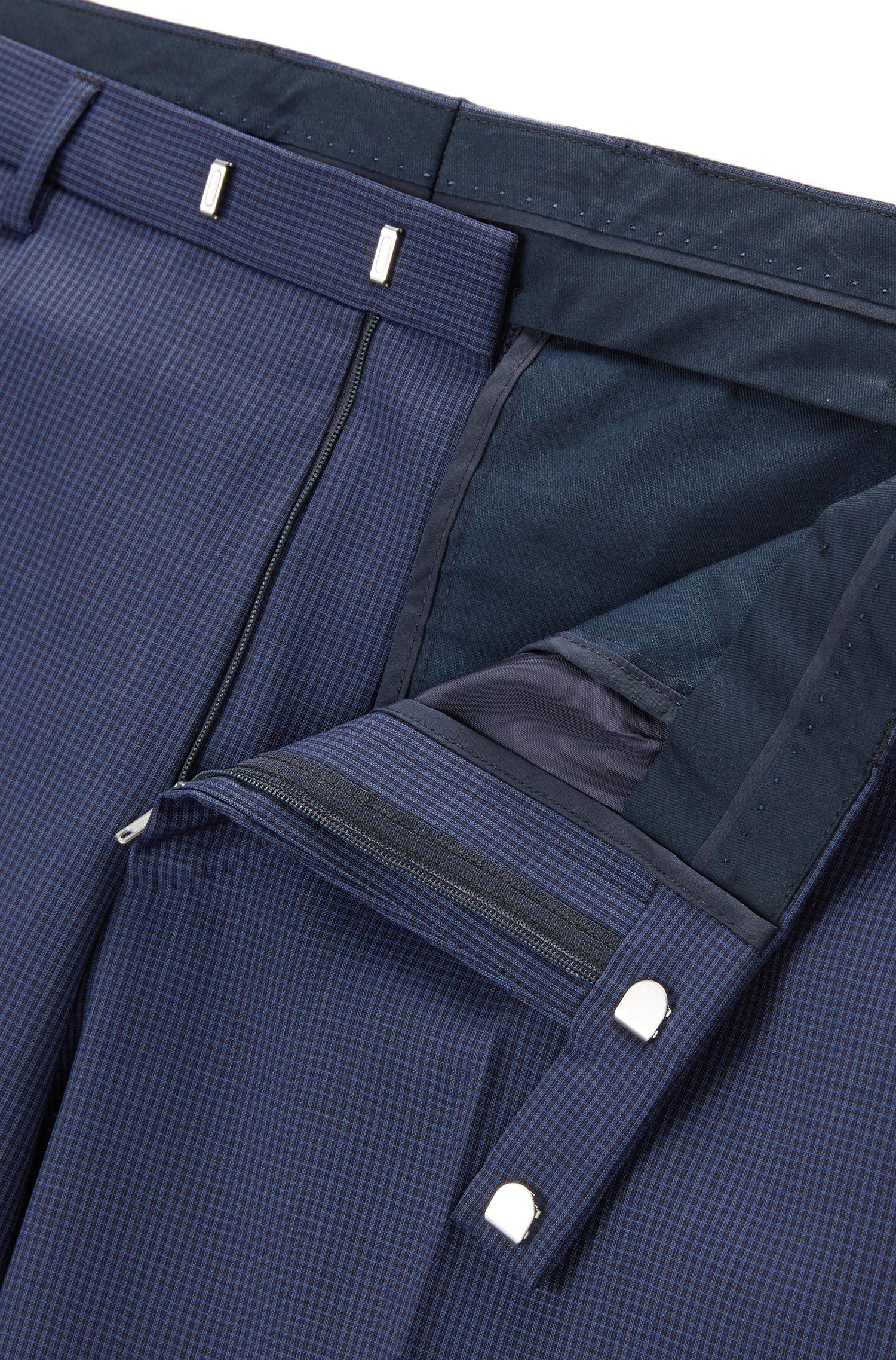 Virgin Wool 3-Piece Suit, Regular Fit | Jerron/Lenon WE, Blue