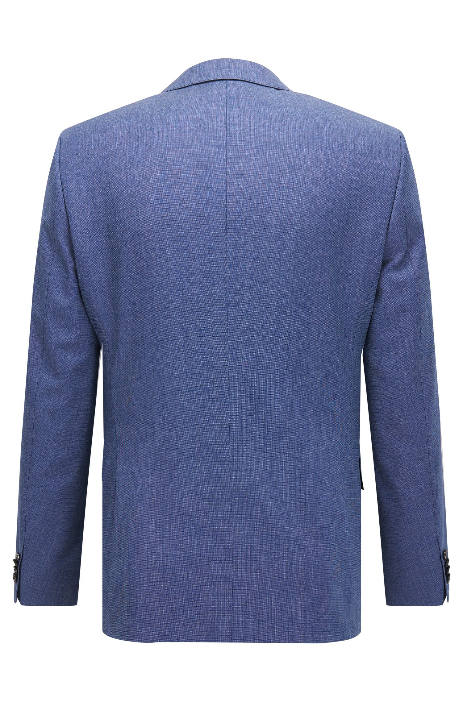 Birdseye Virgin Wool Suit, Slim Fit | Huge/Genius, Blue