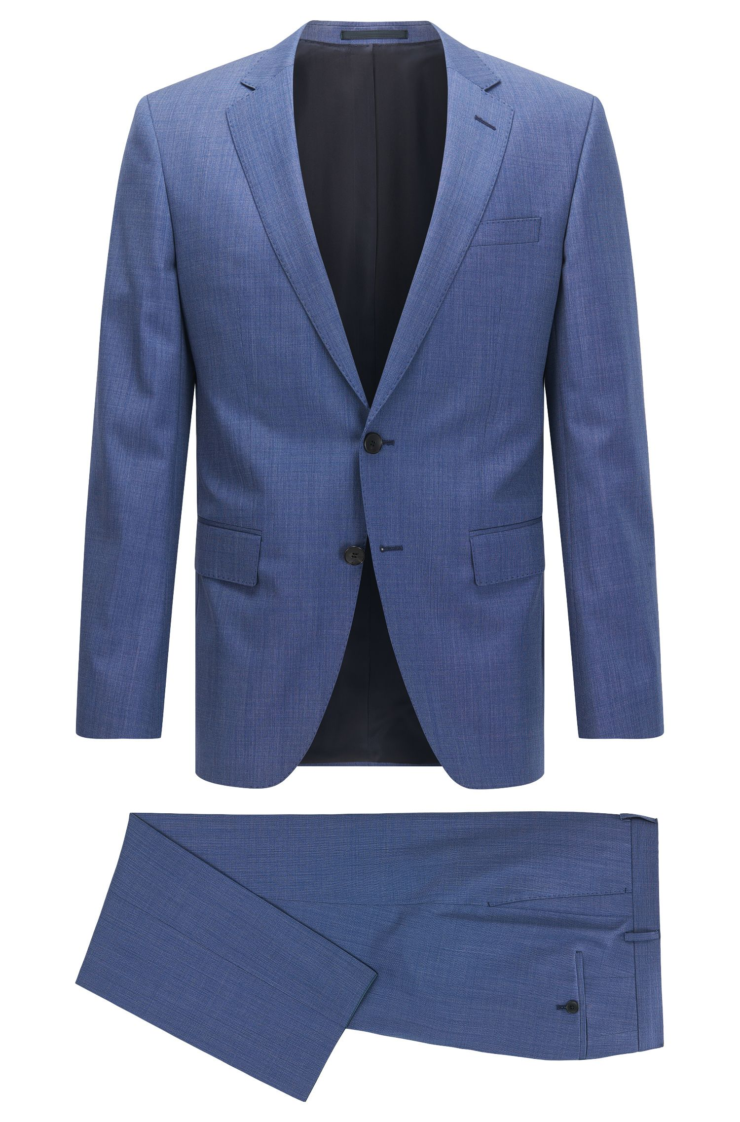 Birdseye Super 110 Virgin Wool Suit, Slim Fit | Huge/Genius
