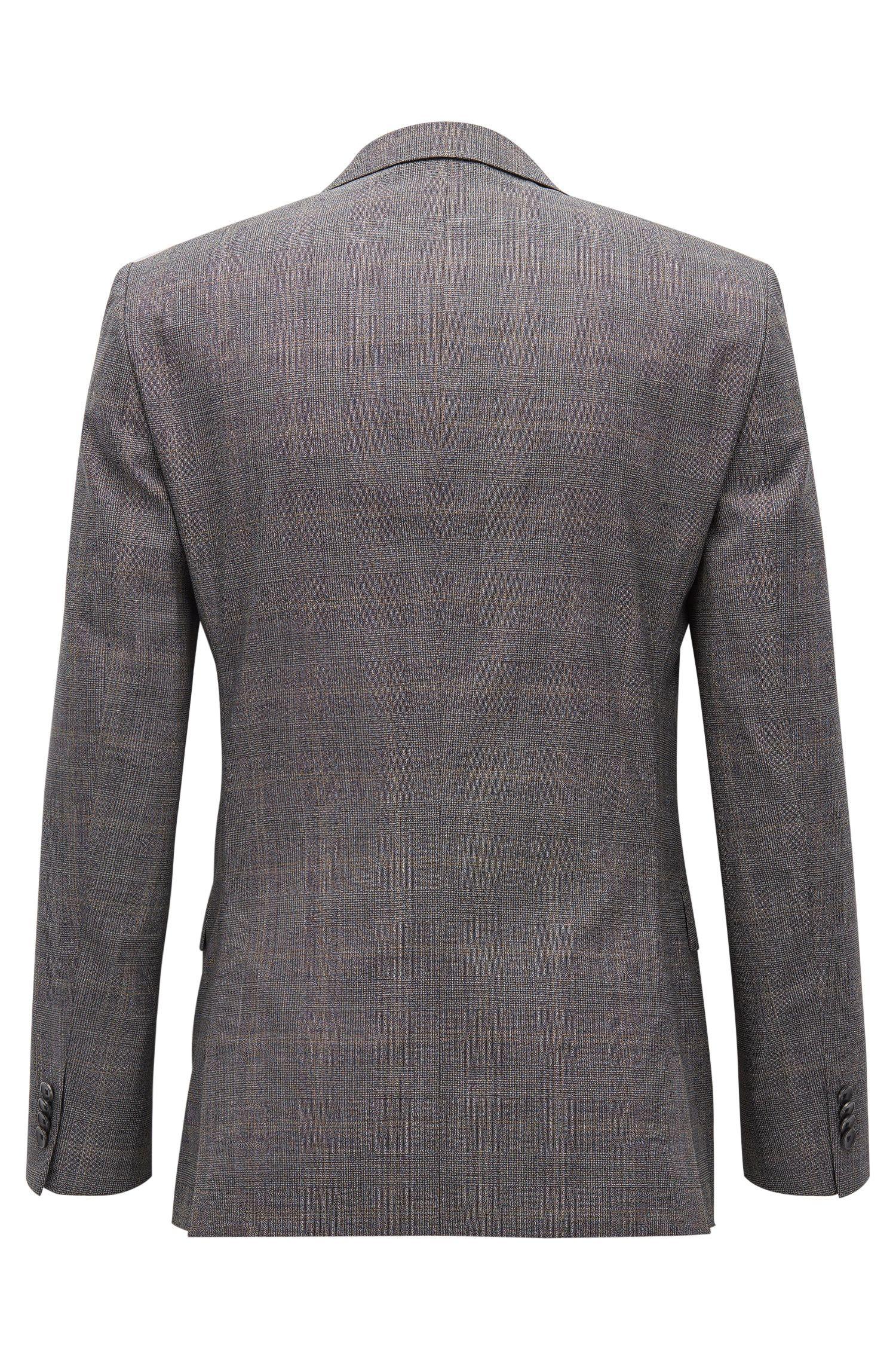 Stretch Tailoring Plaid Wool Suit, Slim Fit | Novan/Ben