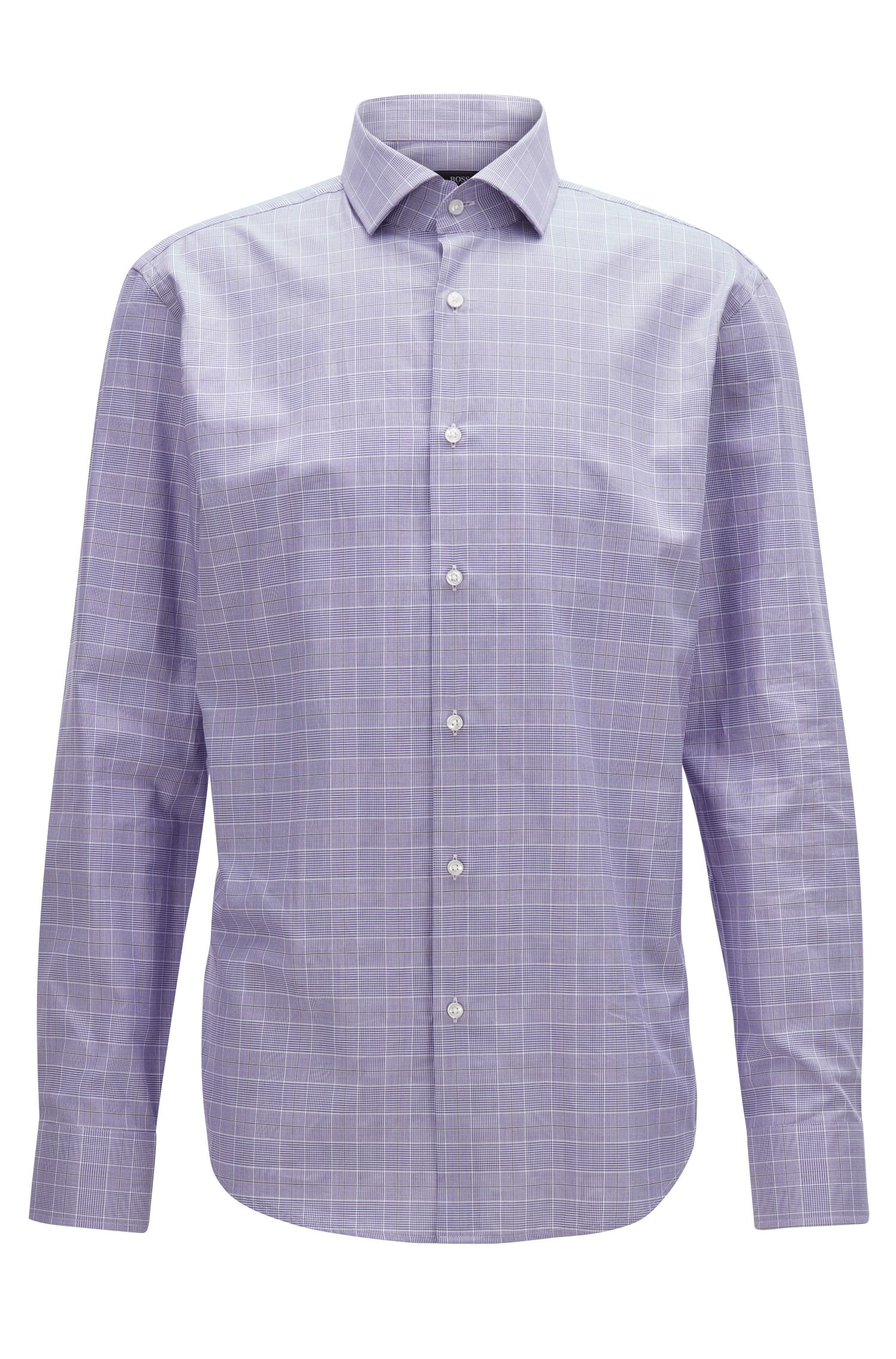 Plaid Cotton Dress Shirt, Regular Fit | Gordon