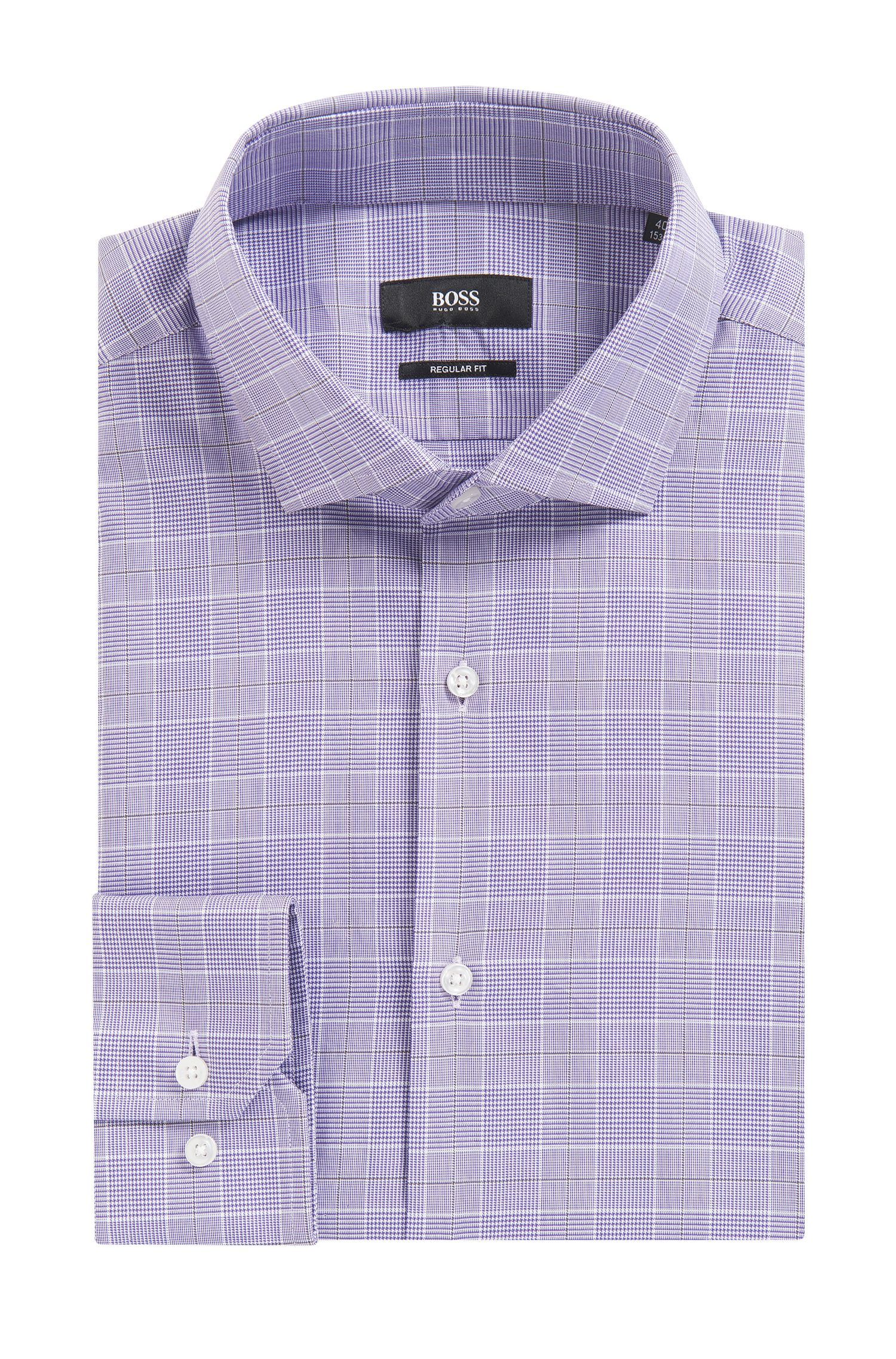 'Gordon' | Regular Fit, Plaid Cotton Dress Shirt