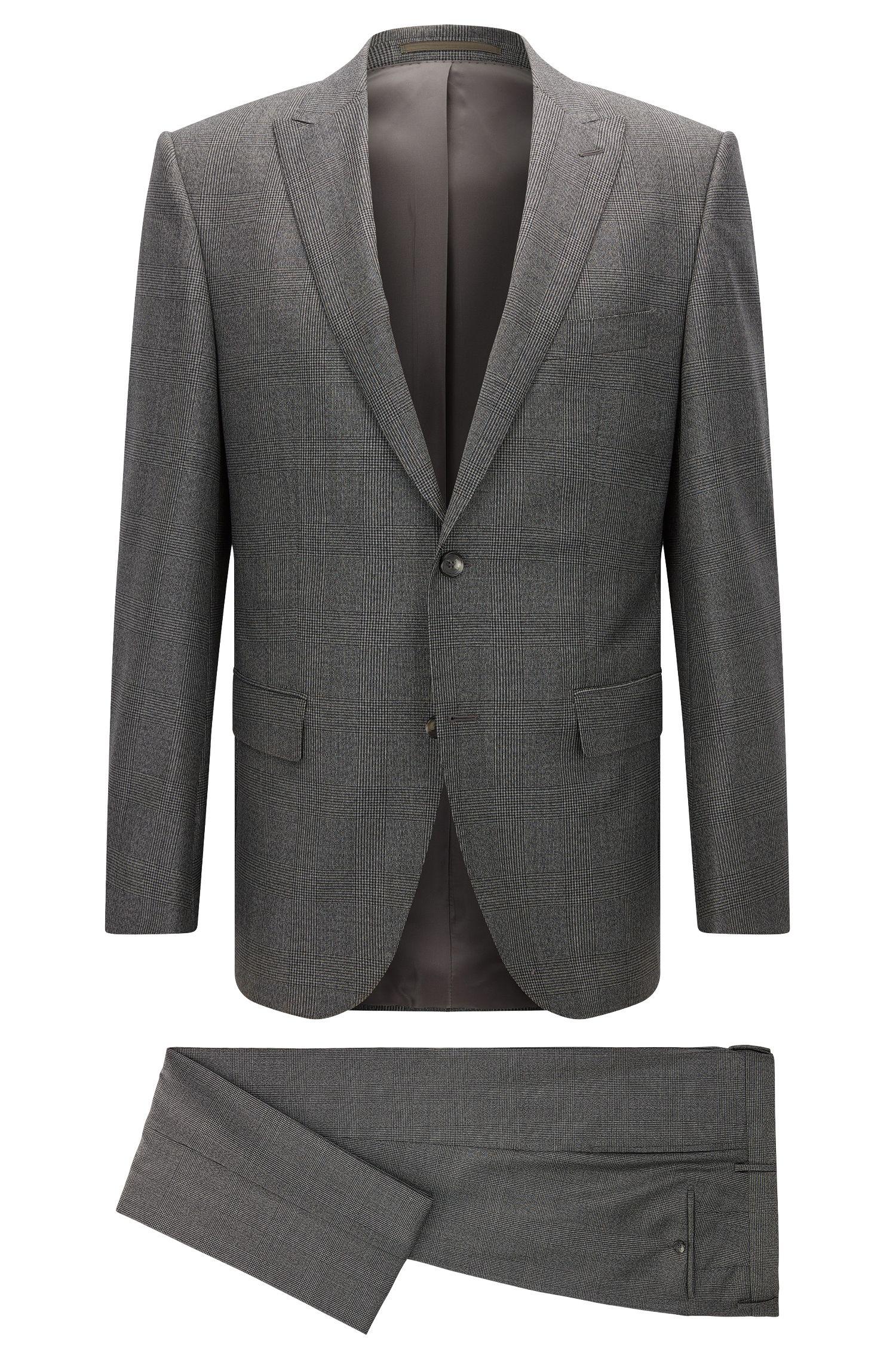 Glen Check Italian Virgin Wool Suit, Slim Fit | T-Jorman/Lary