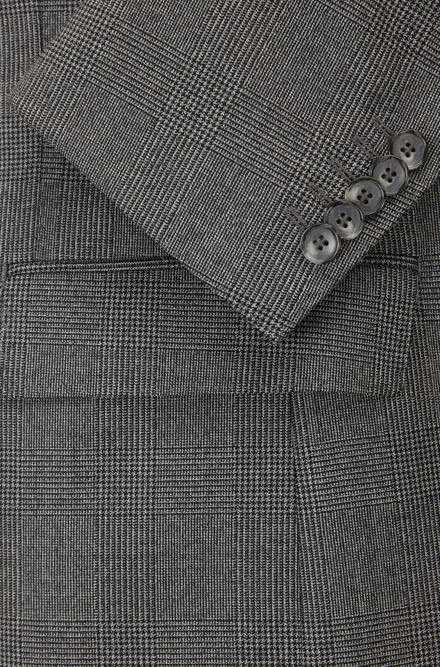 Glen Check Italian Virgin Wool Suit, Slim Fit | T-Jorman/Lary, Open Grey