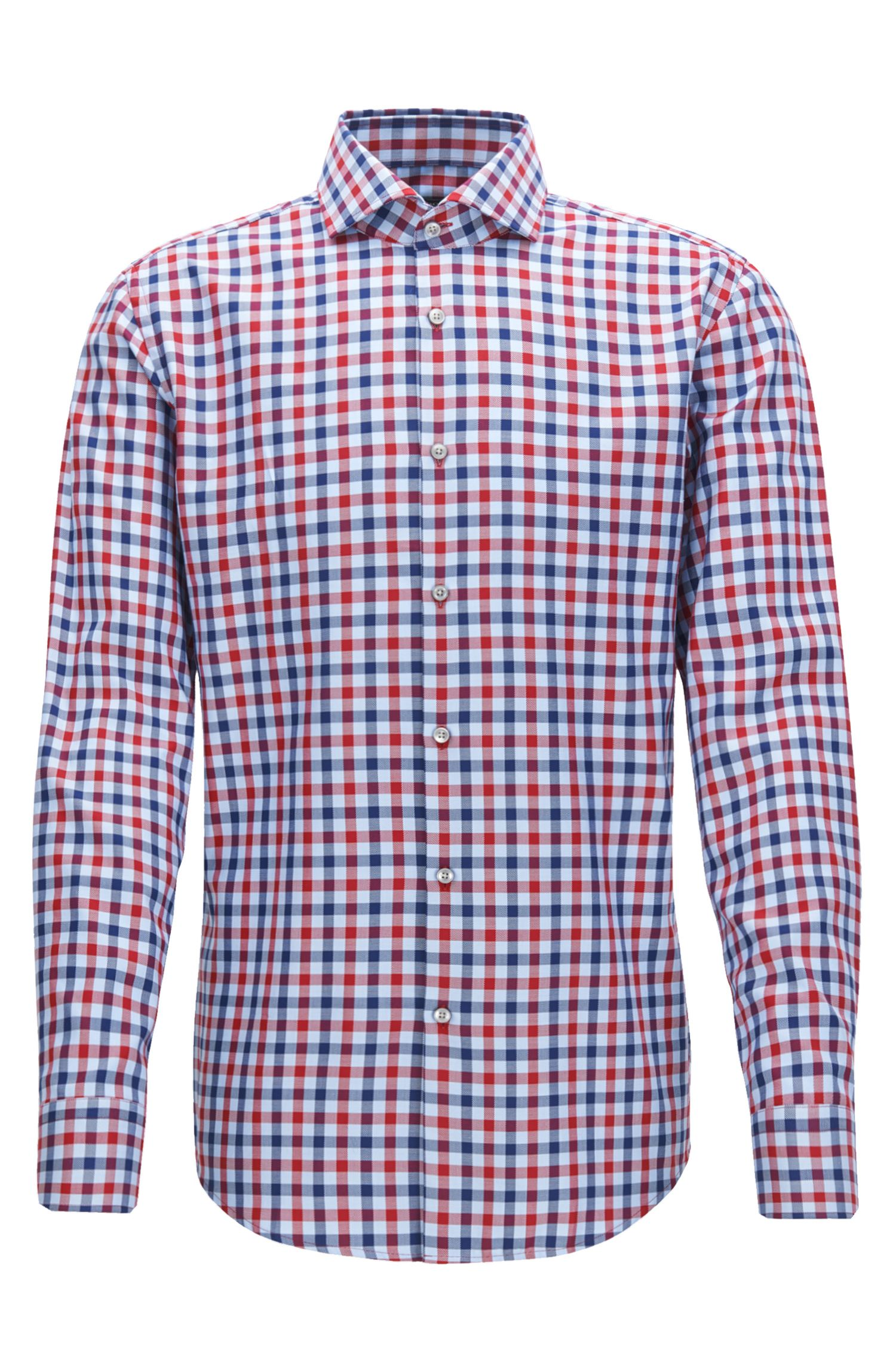 Check Cotton Dress Shirt, Slim Fit | Jason