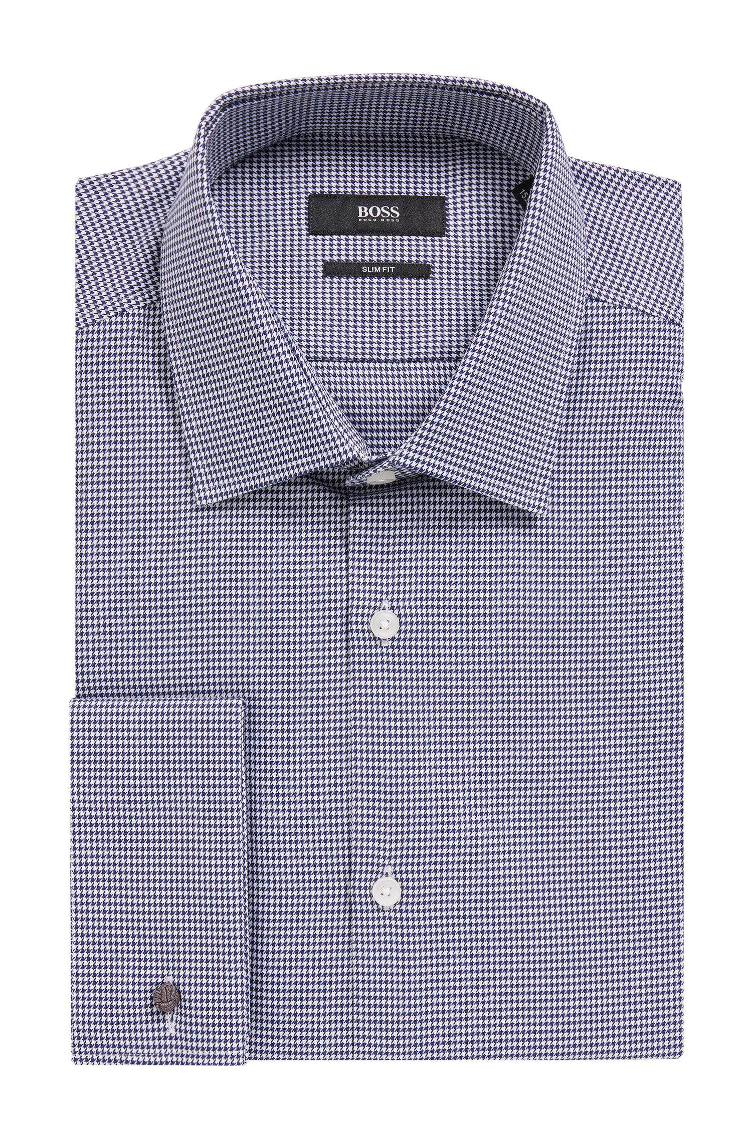 Houndstooth Dress Shirt, Slim Fit | Jacques
