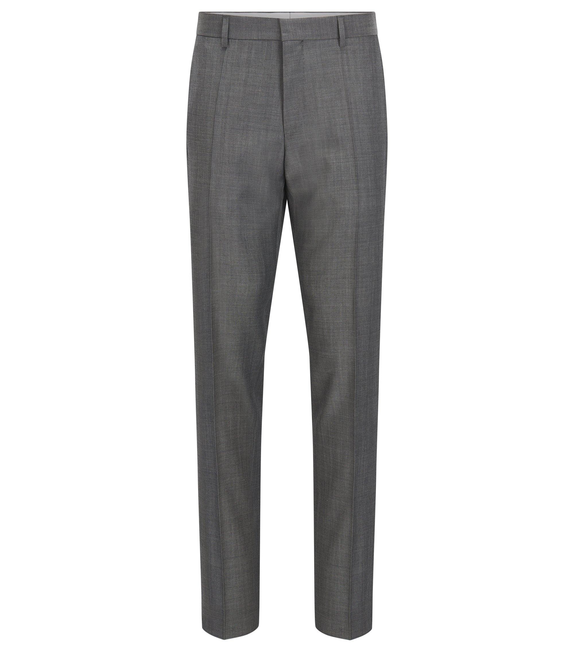Crosshatch Virgin Wool Dress Pants, Slim Fit | Genesis, Grey