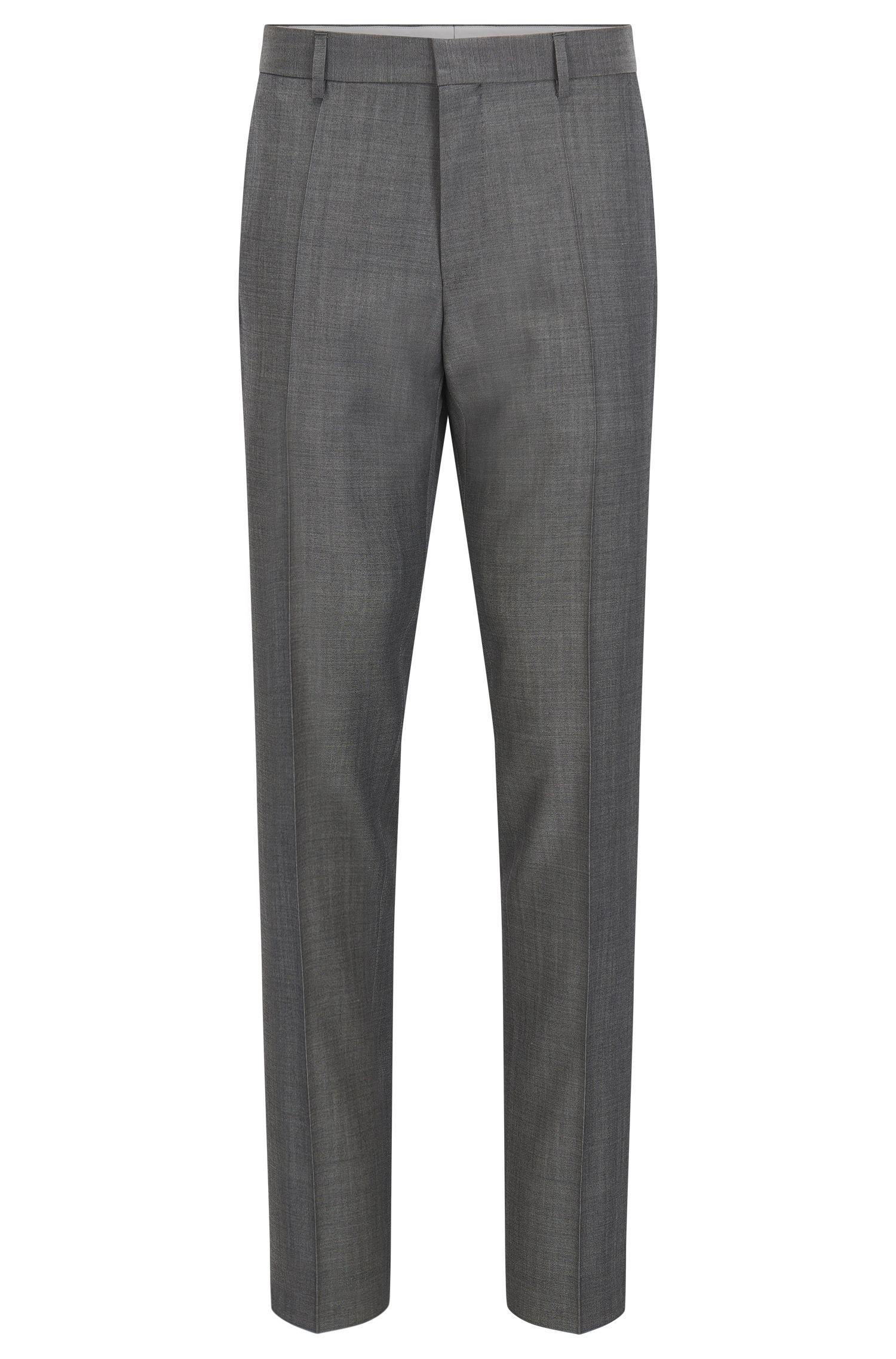 Crosshatch Virgin Wool Dress Pants, Slim Fit | Genesis