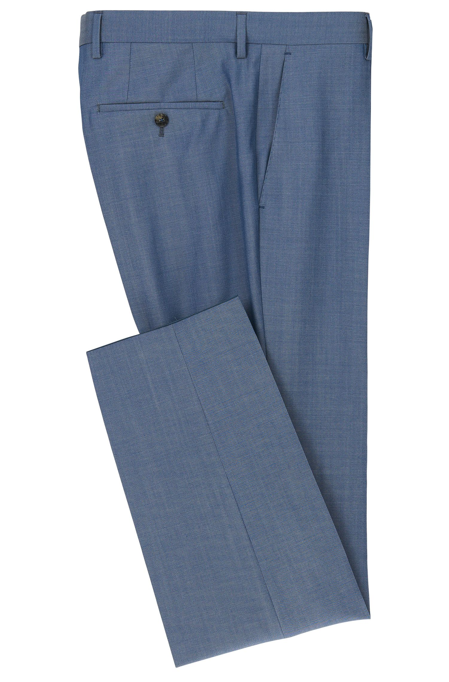Crosshatch Virgin Wool Dress Pants, Slim Fit | Genesis