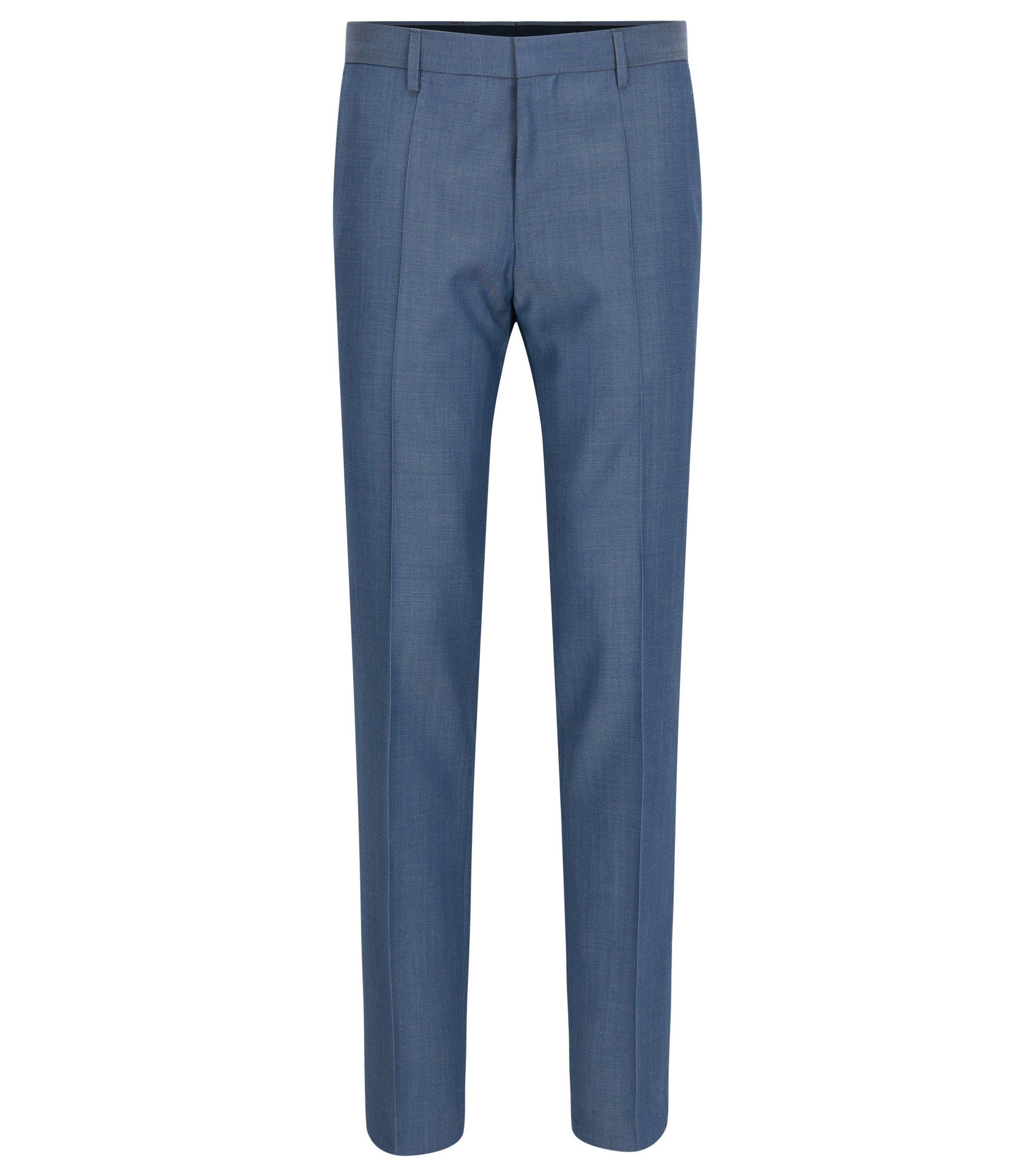Crosshatch Virgin Wool Dress Pants, Slim Fit | Genesis, Blue