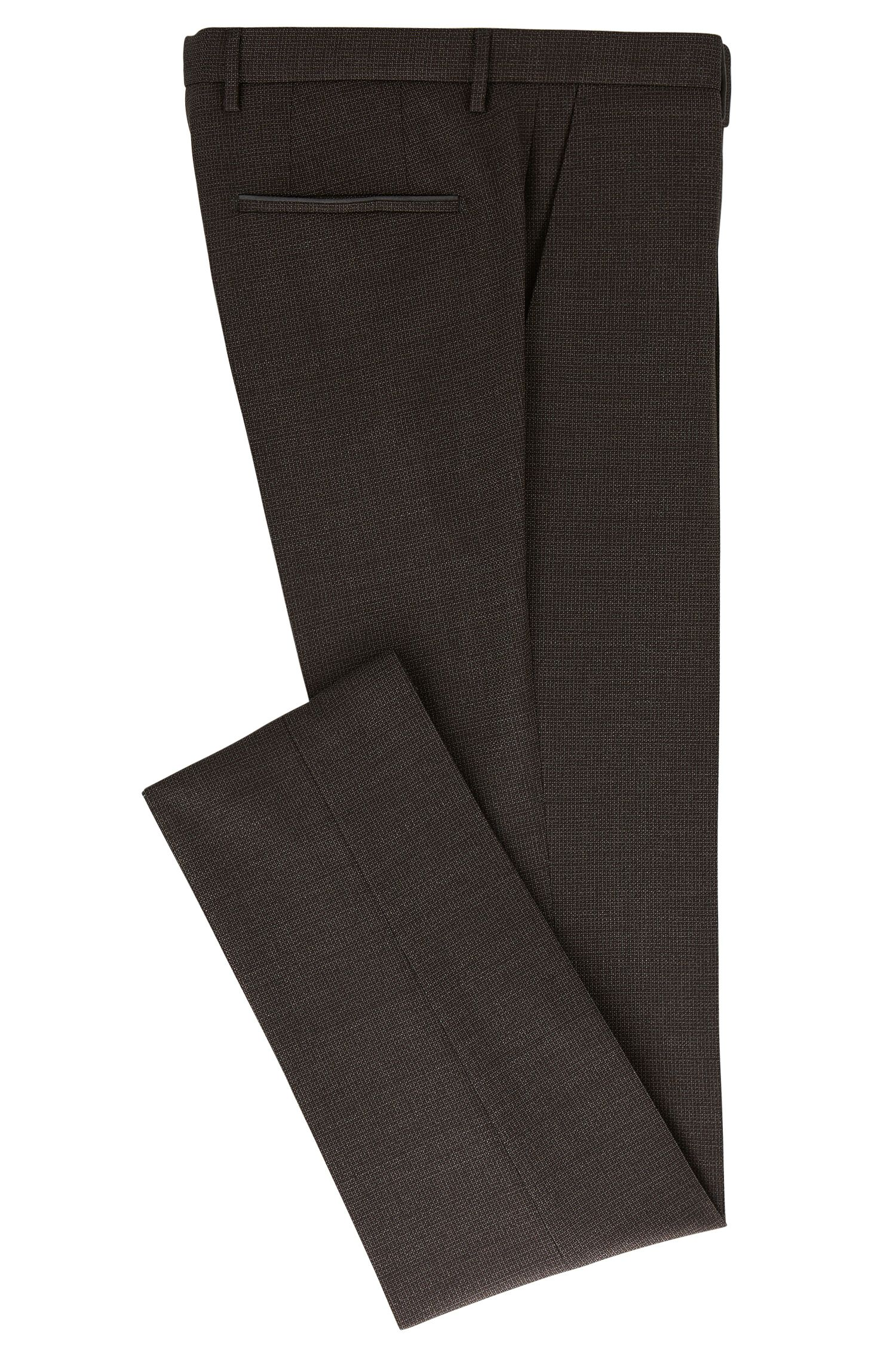 Basketweave Virgin Wool Dress Pant, Slim Fit | T-Barrit
