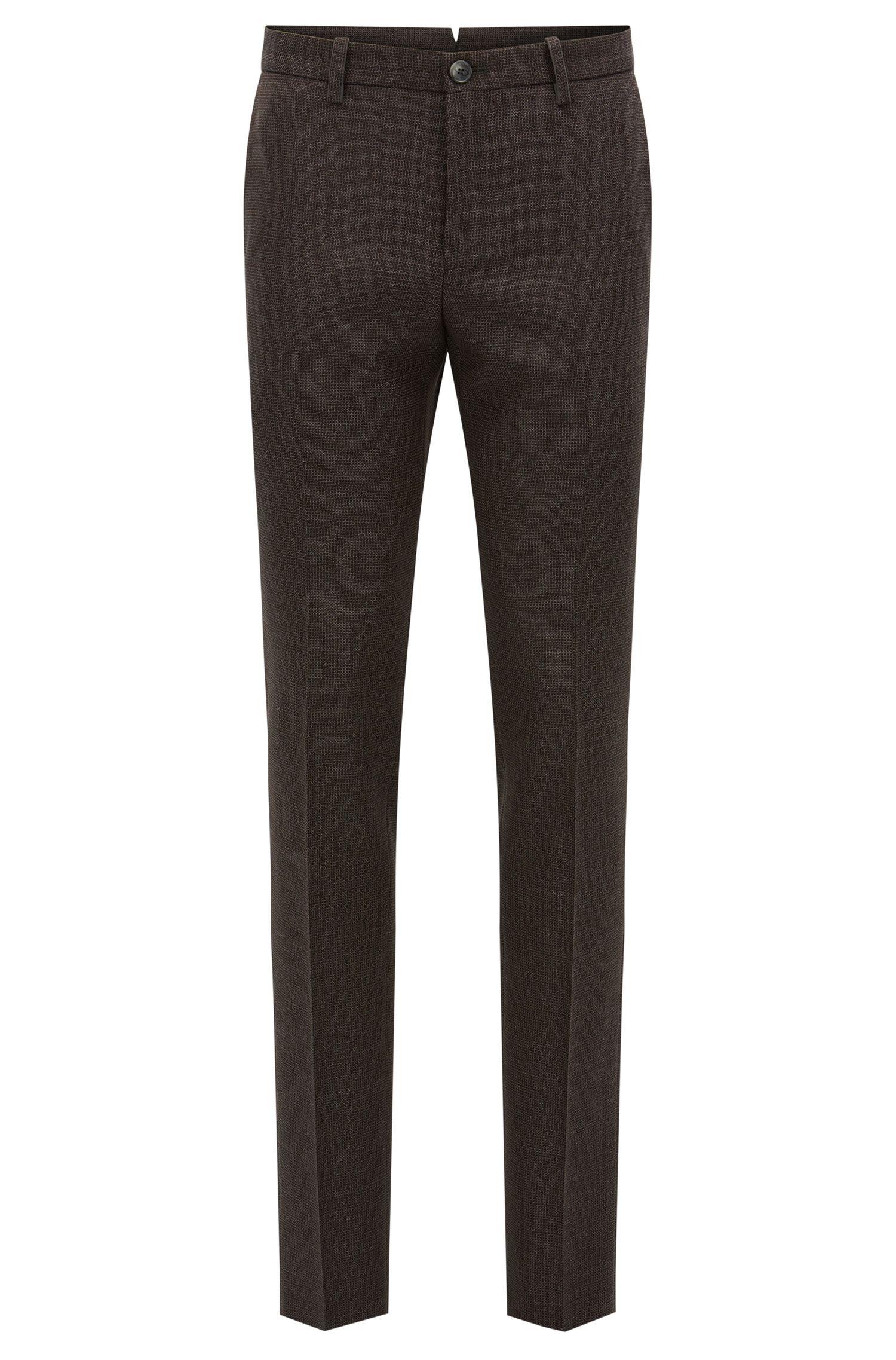 Basketweave Virgin Wool Dress Pant, Slim Fit | T-Barrit