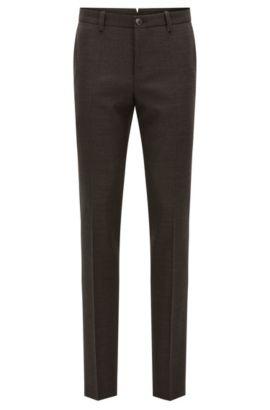 'T-Barrit'   Slim Fit, Basketweave Super 100 Virgin Wool Dress Pants, Dark Red
