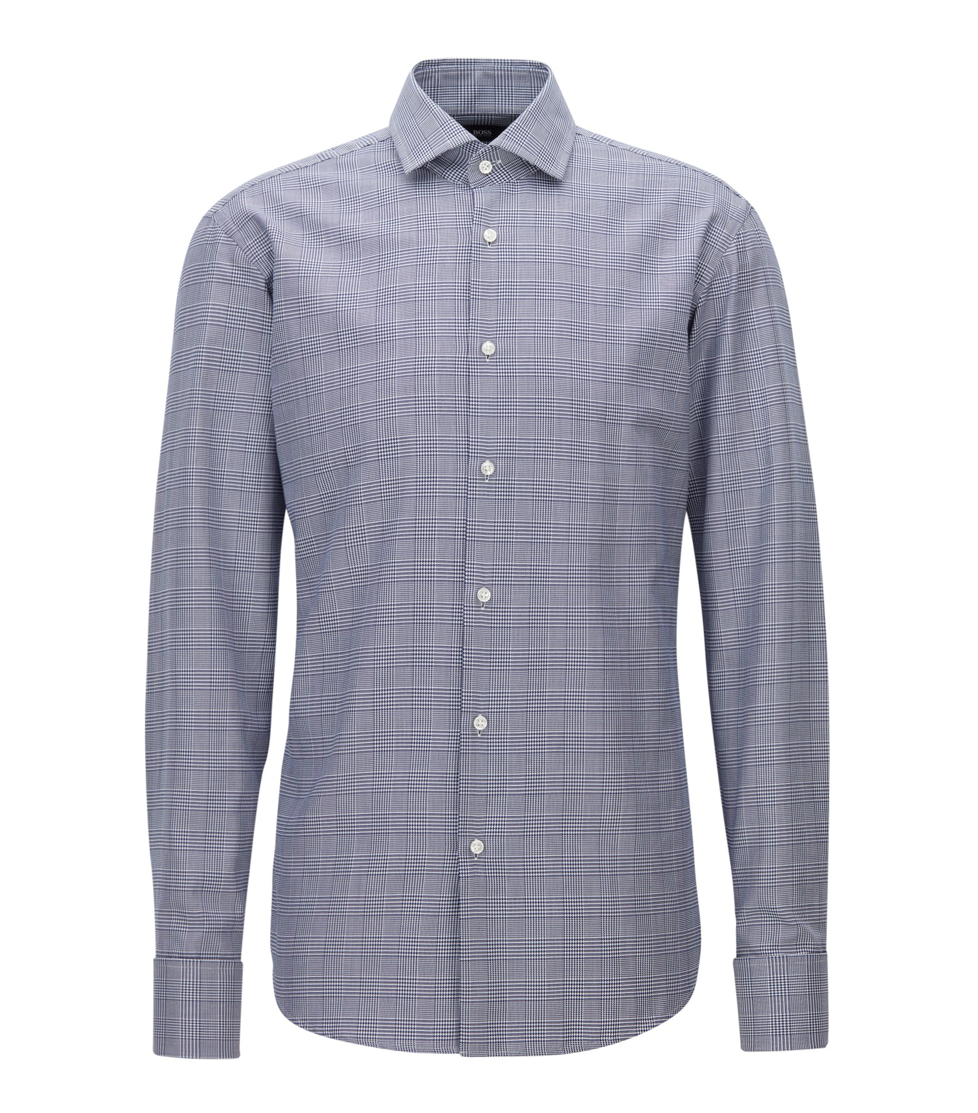 Cotton Dress Shirt, Regular Fit | Gardner, Dark Blue