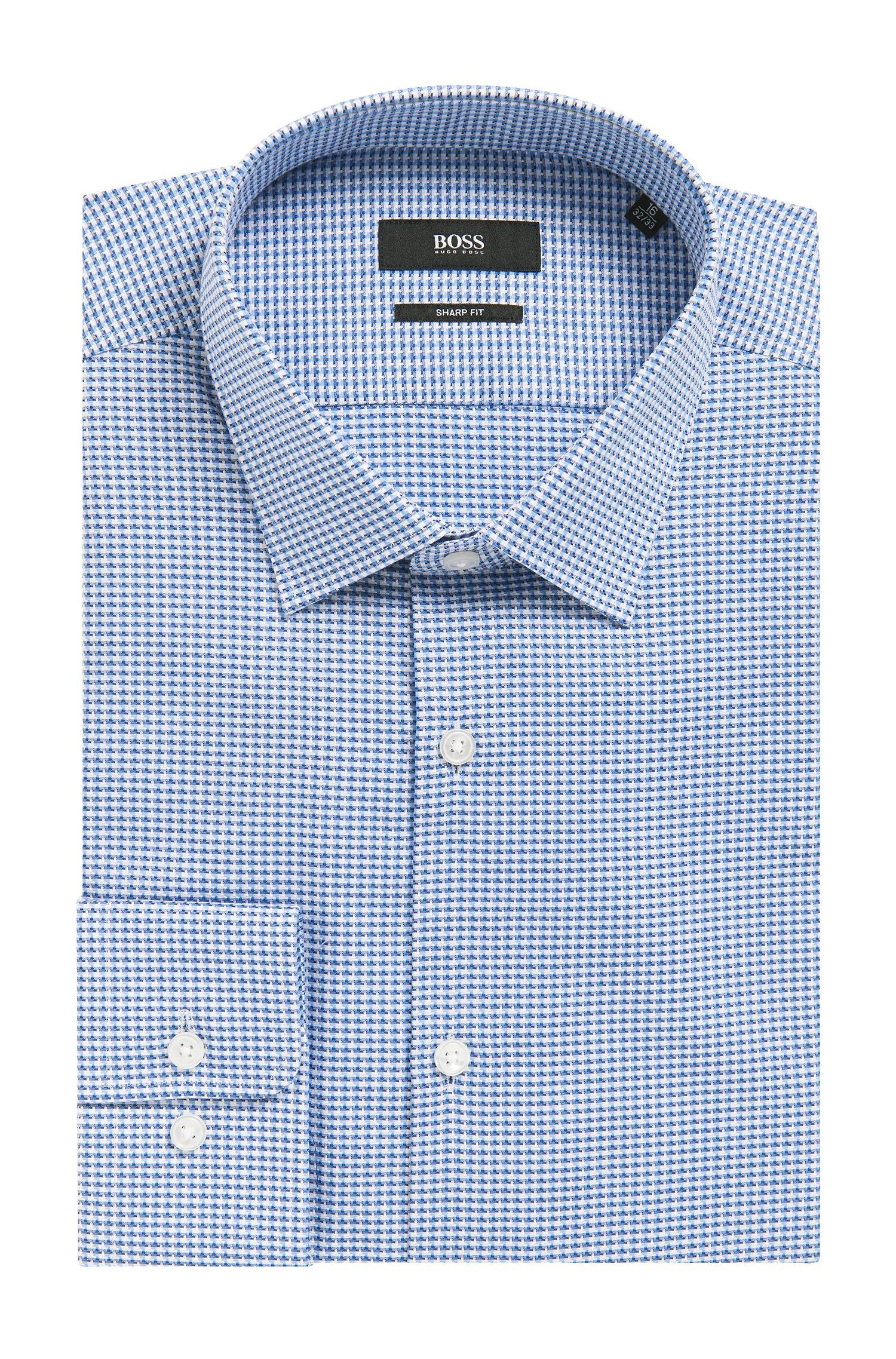 Geometric Cotton Dress Shirt, Sharp Fit l Marley US
