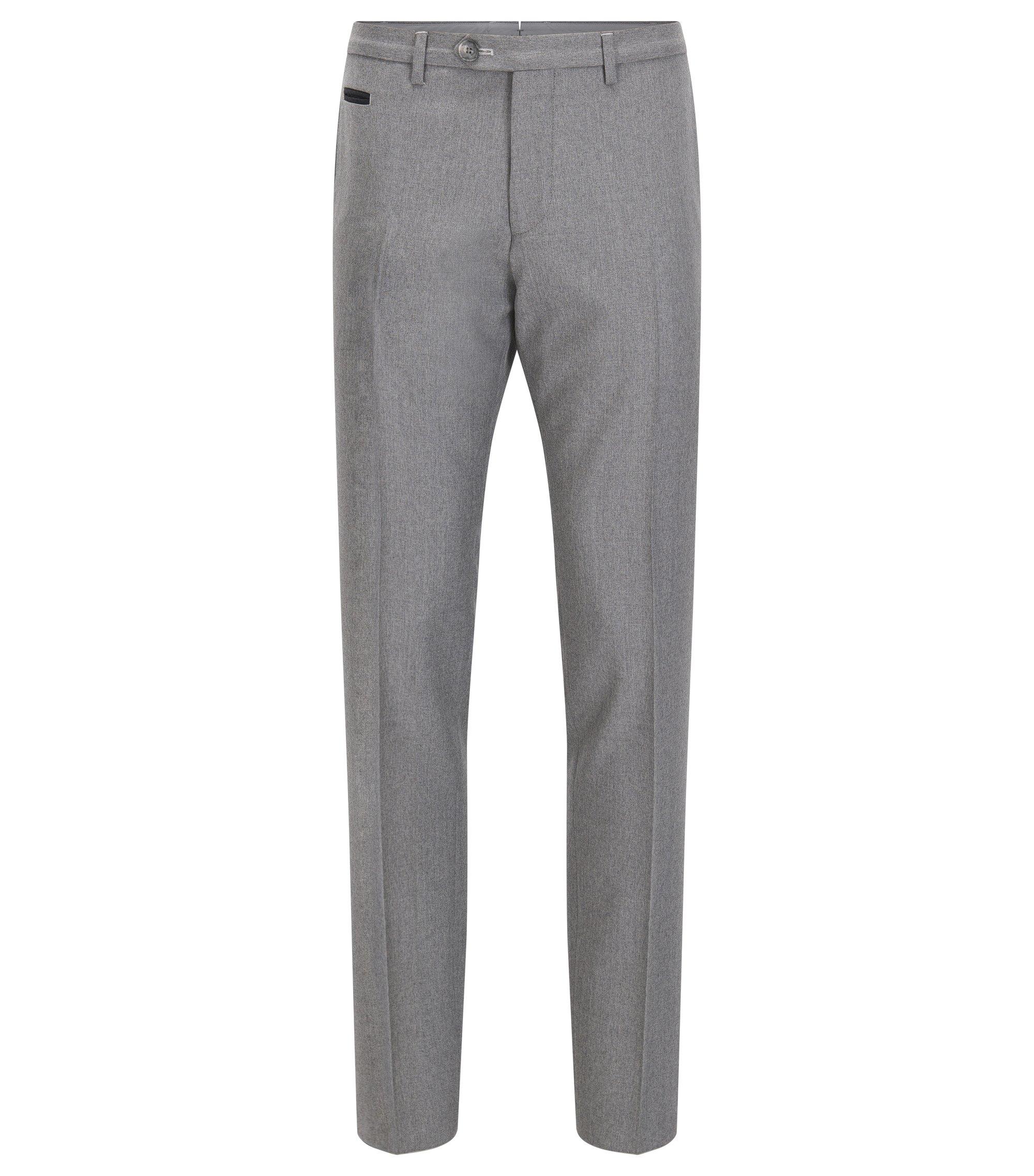 Virgin Wool Pant, Extra Slim Fit | Wilhelm, Grey