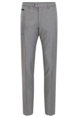 Virgin Wool Pant, Extra Slim Fit | Wilhelm, Grey