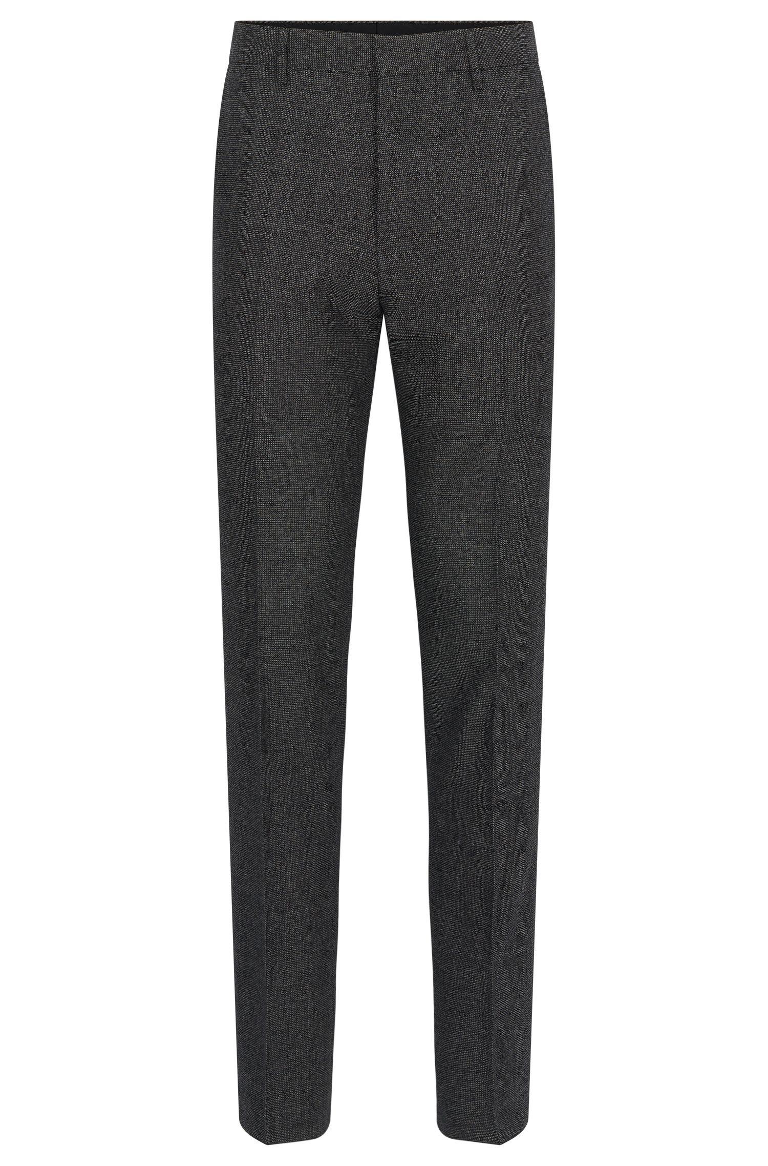 Nailhead Wool Cotton Dress Pants, Slim Fit | Giro