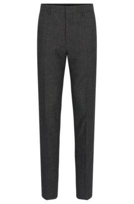Nailhead Wool Cotton Dress Pants, Slim Fit | Giro, Open Grey