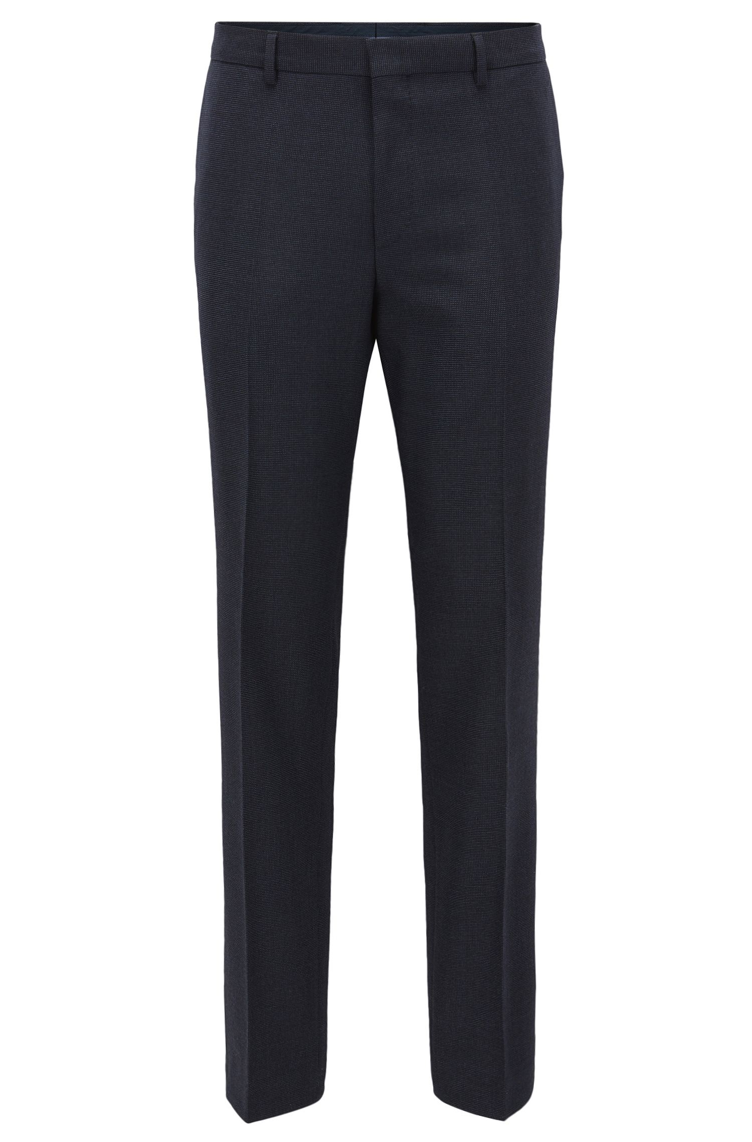 Nailhead Wool Cotton Dress Pants, Slim Fit   Giro