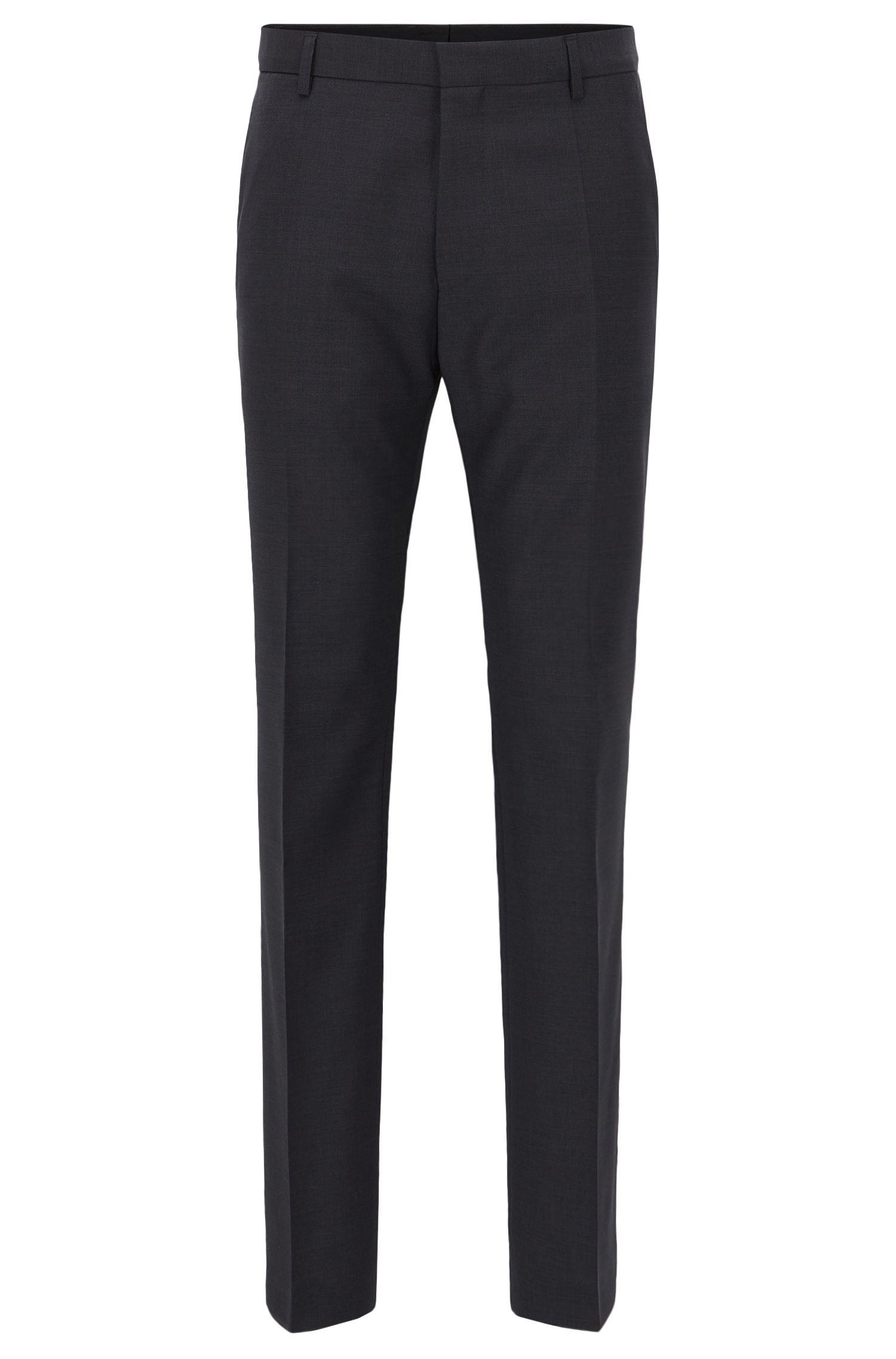 Traveler Virgin Wool Trousers, Slim Fit | Barnes