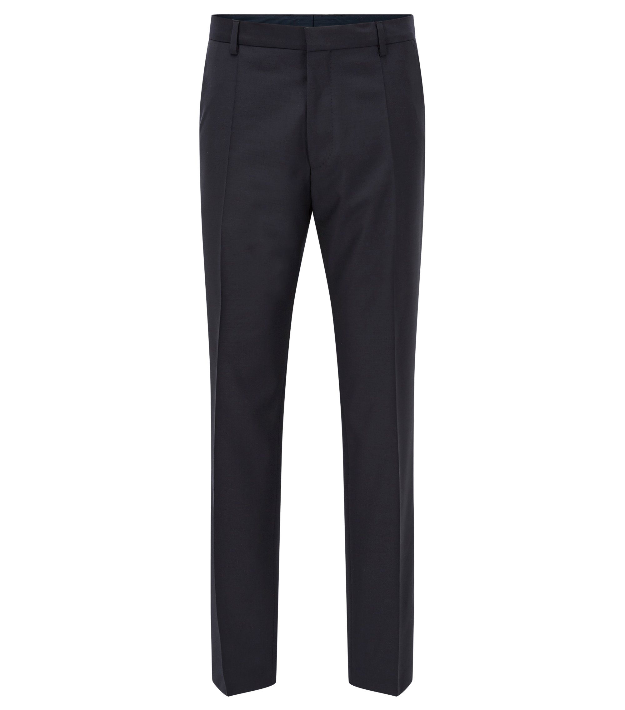 Traveler Virgin Wool Pant, Slim Fit | Barnes, Dark Blue