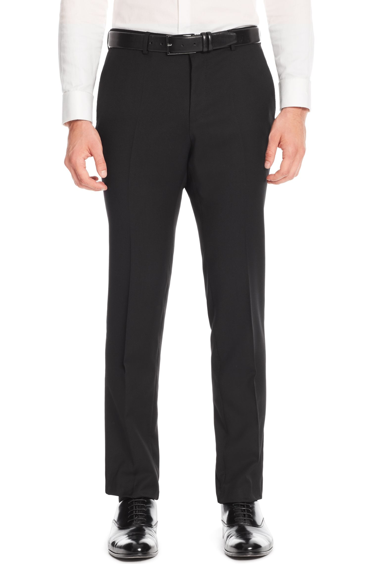 Virgin Wool Dress Pant, Slim Fit   Genesis
