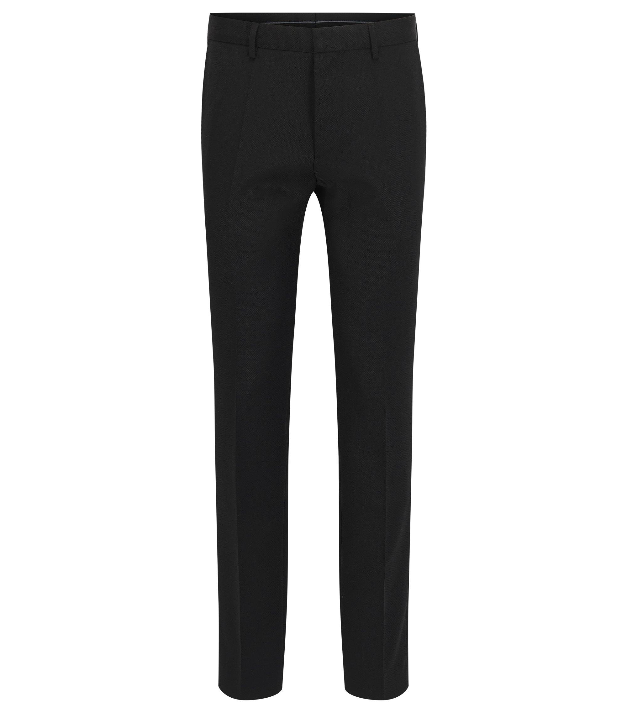 Virgin Wool Dress Pant, Slim Fit | Genesis, Black