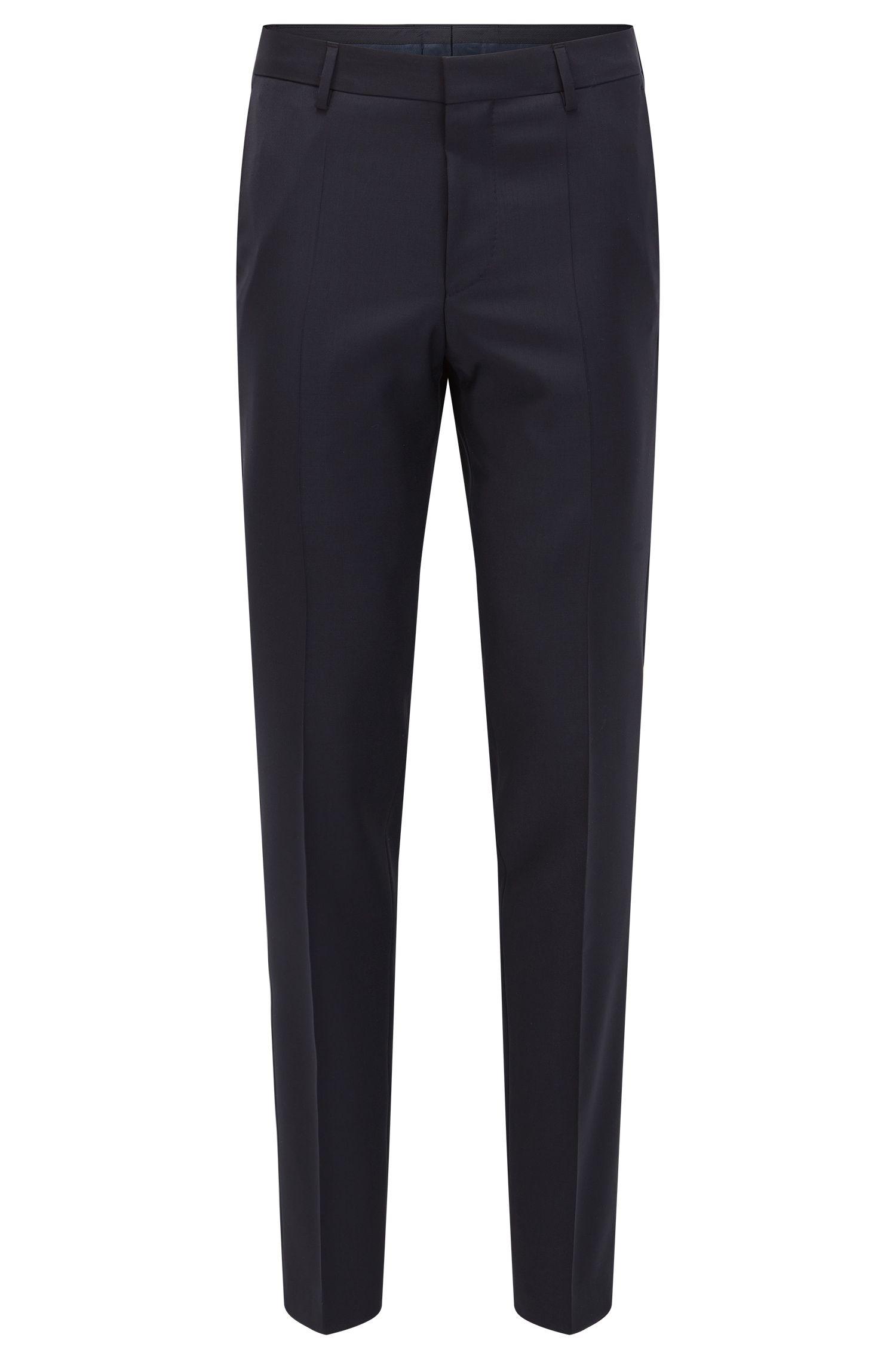 Virgin Wool Cashmere Dress Pants, Slim Fit | Benso