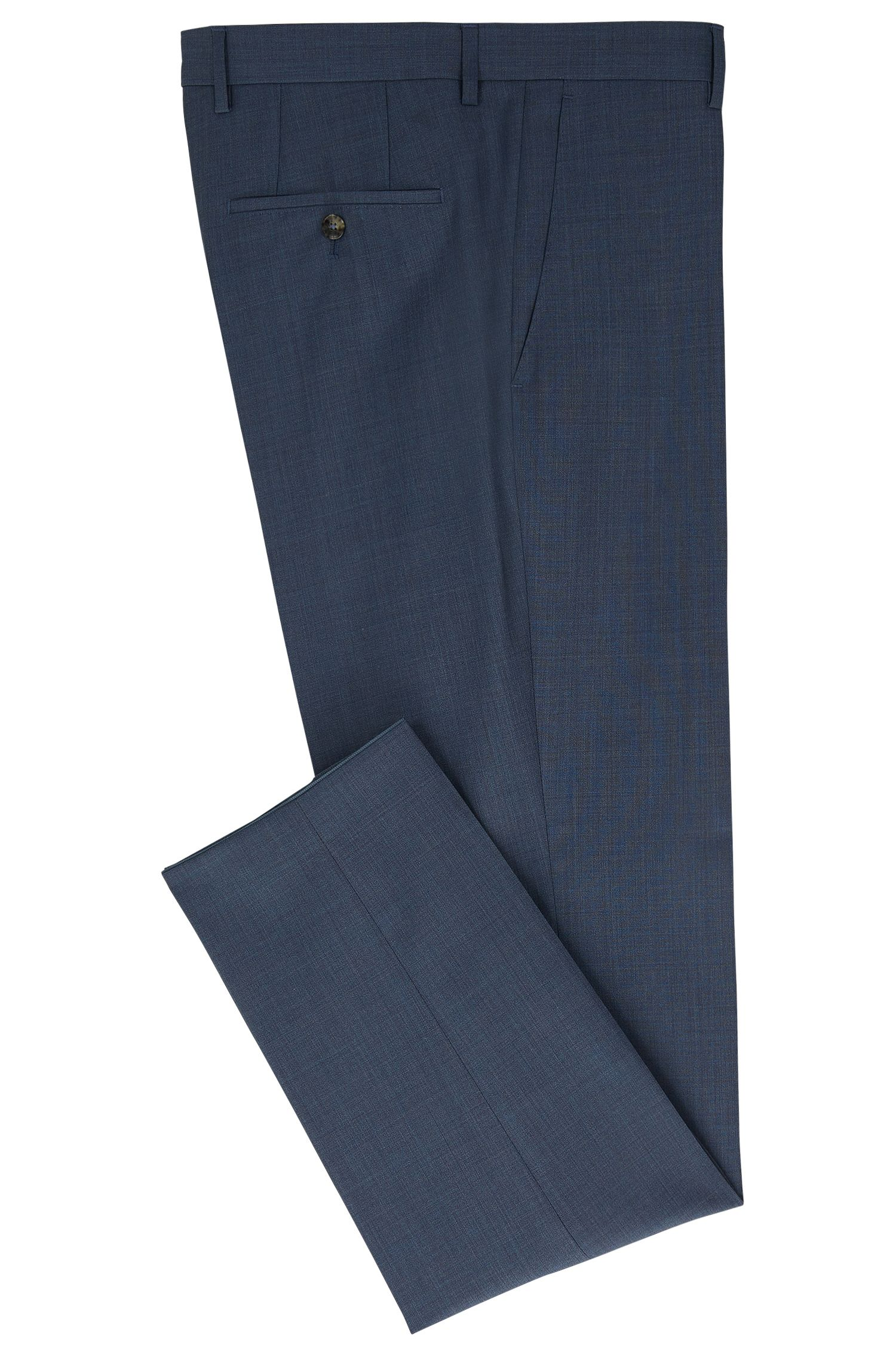 Virgin Wool Cashmere Dress Pant, Slim Fit | Benso