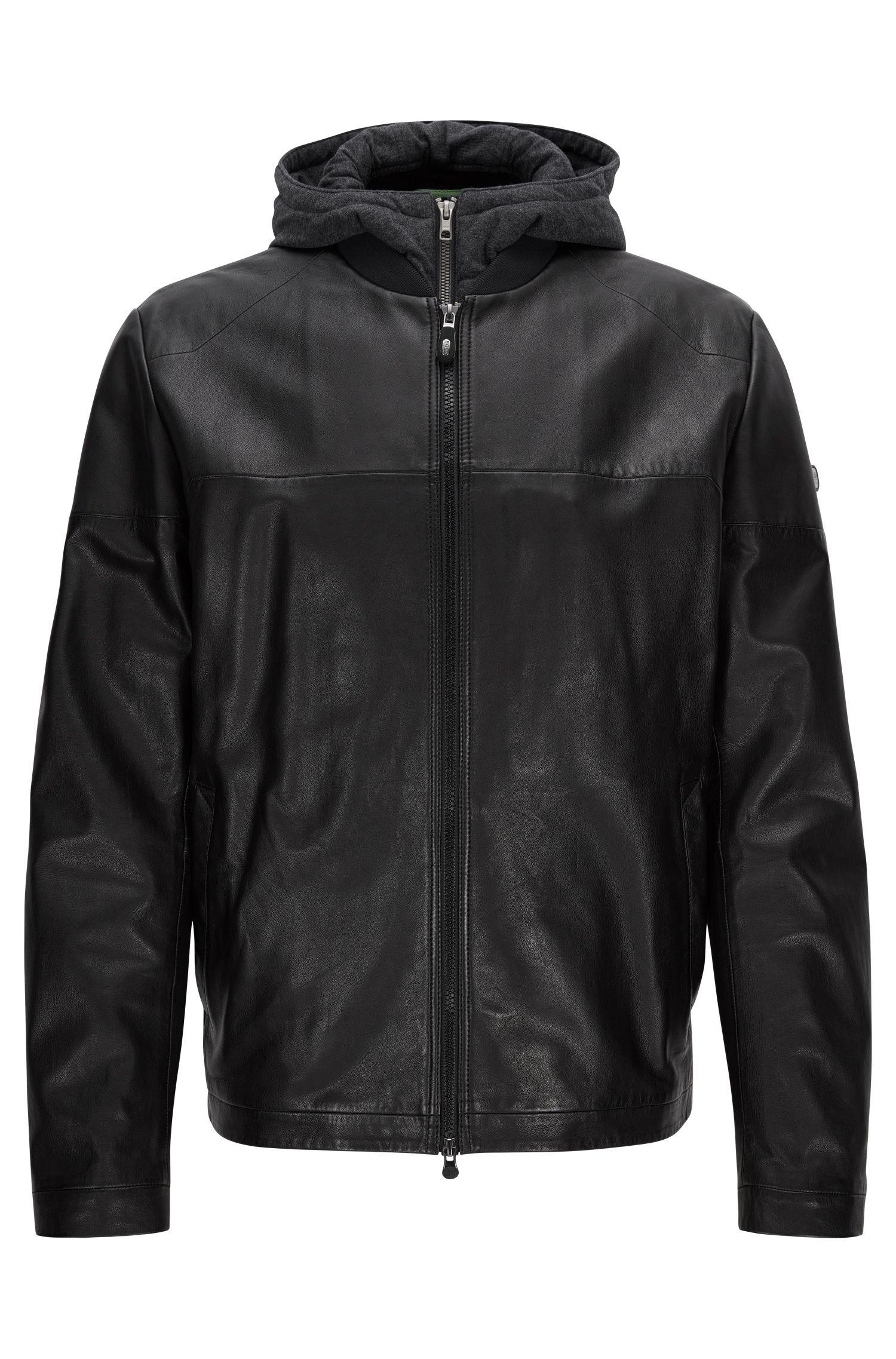 'Jylion' | Sheepskin Hooded Jacket
