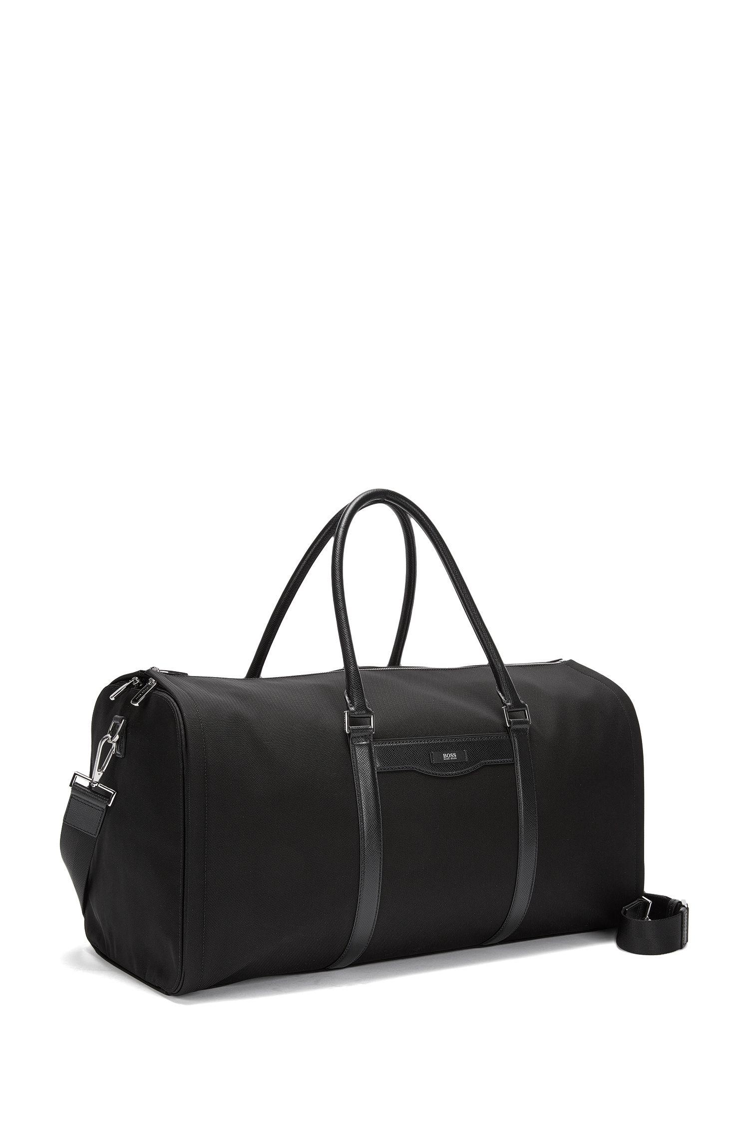 Nylon & Leather Travel Bag | Signature L Trav Bag
