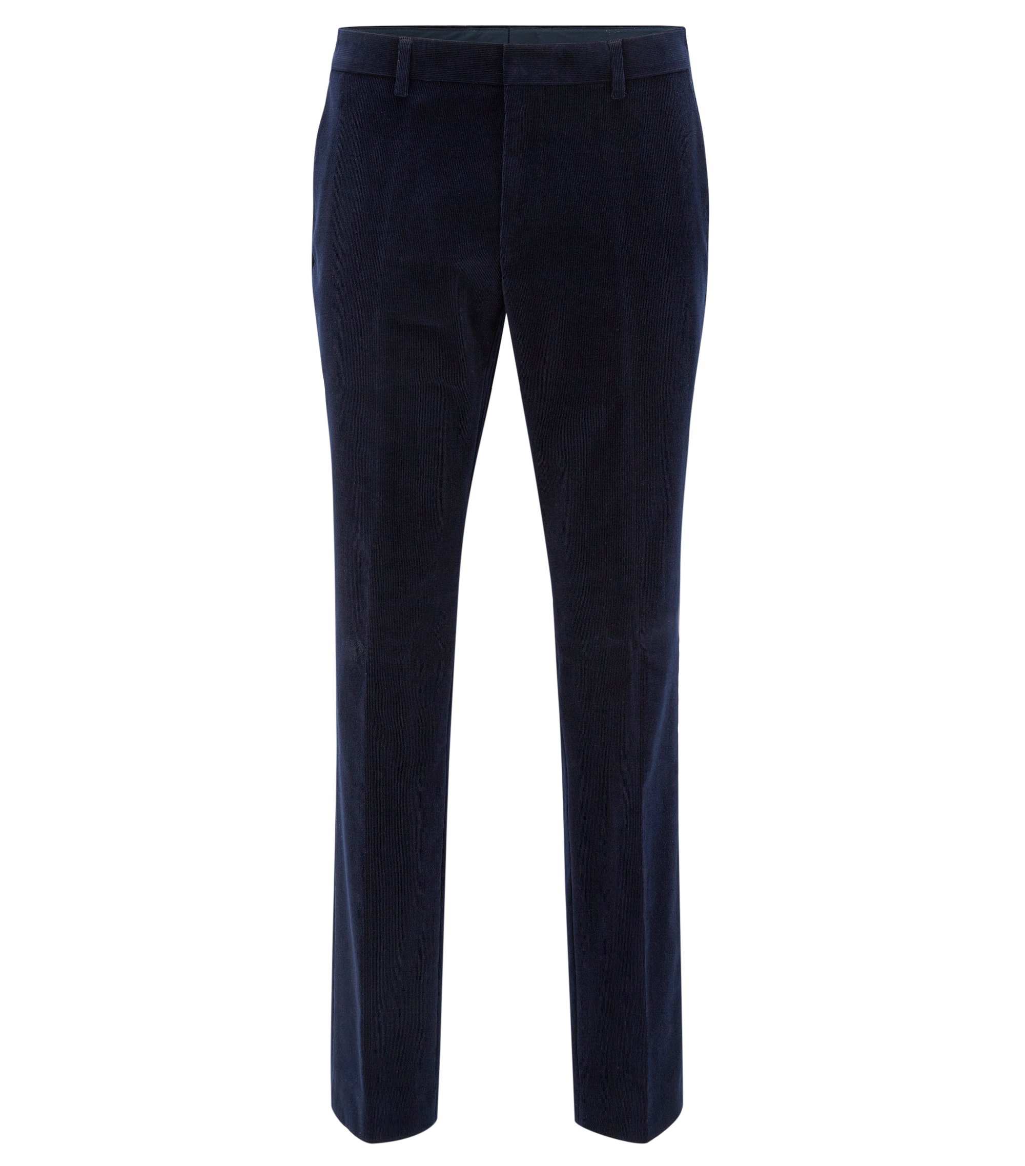 Corduroy Dress Pant, Slim Fit | Genesis, Dark Blue