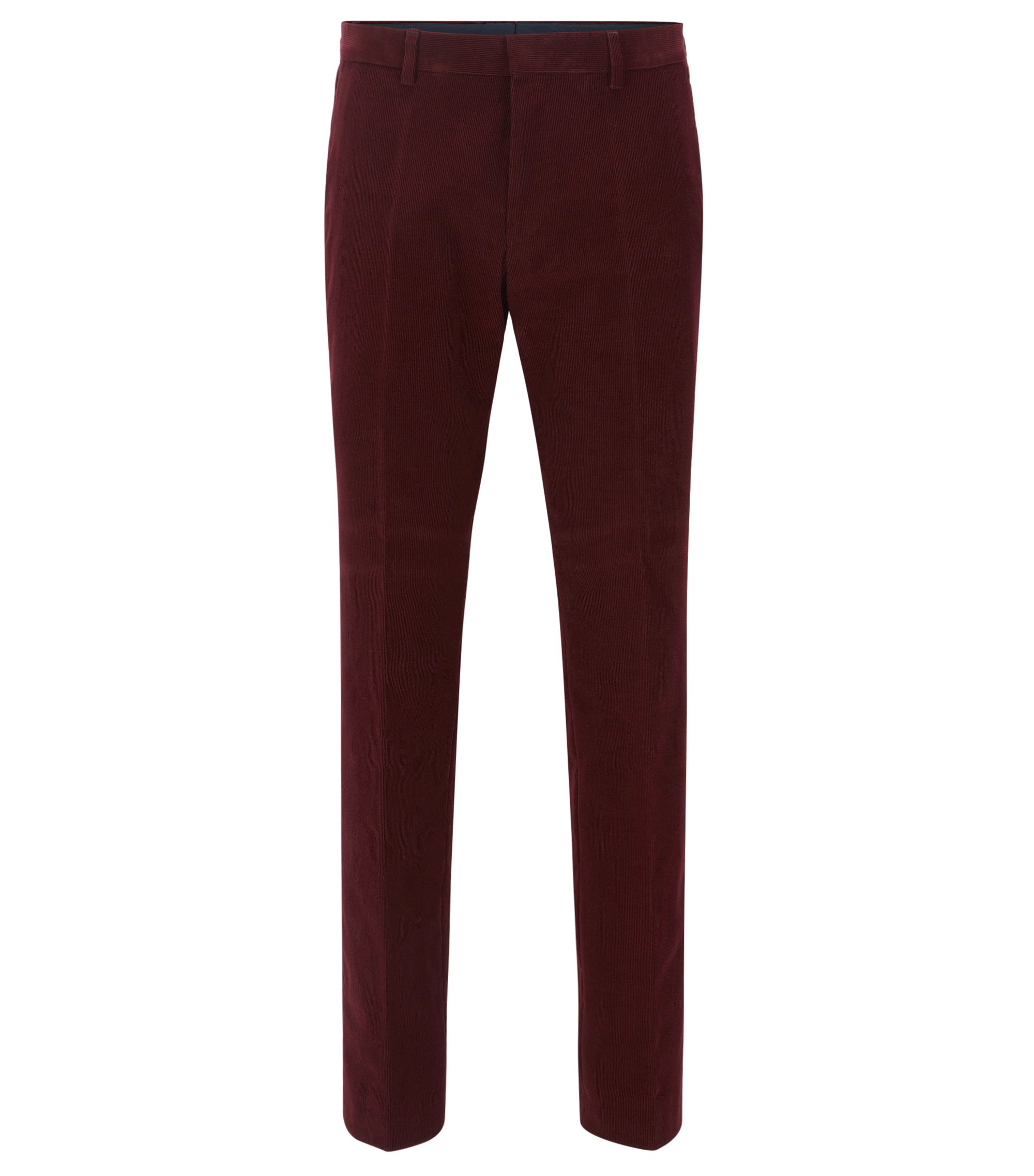 Corduroy Dress Pant, Slim Fit | Genesis, Dark Red