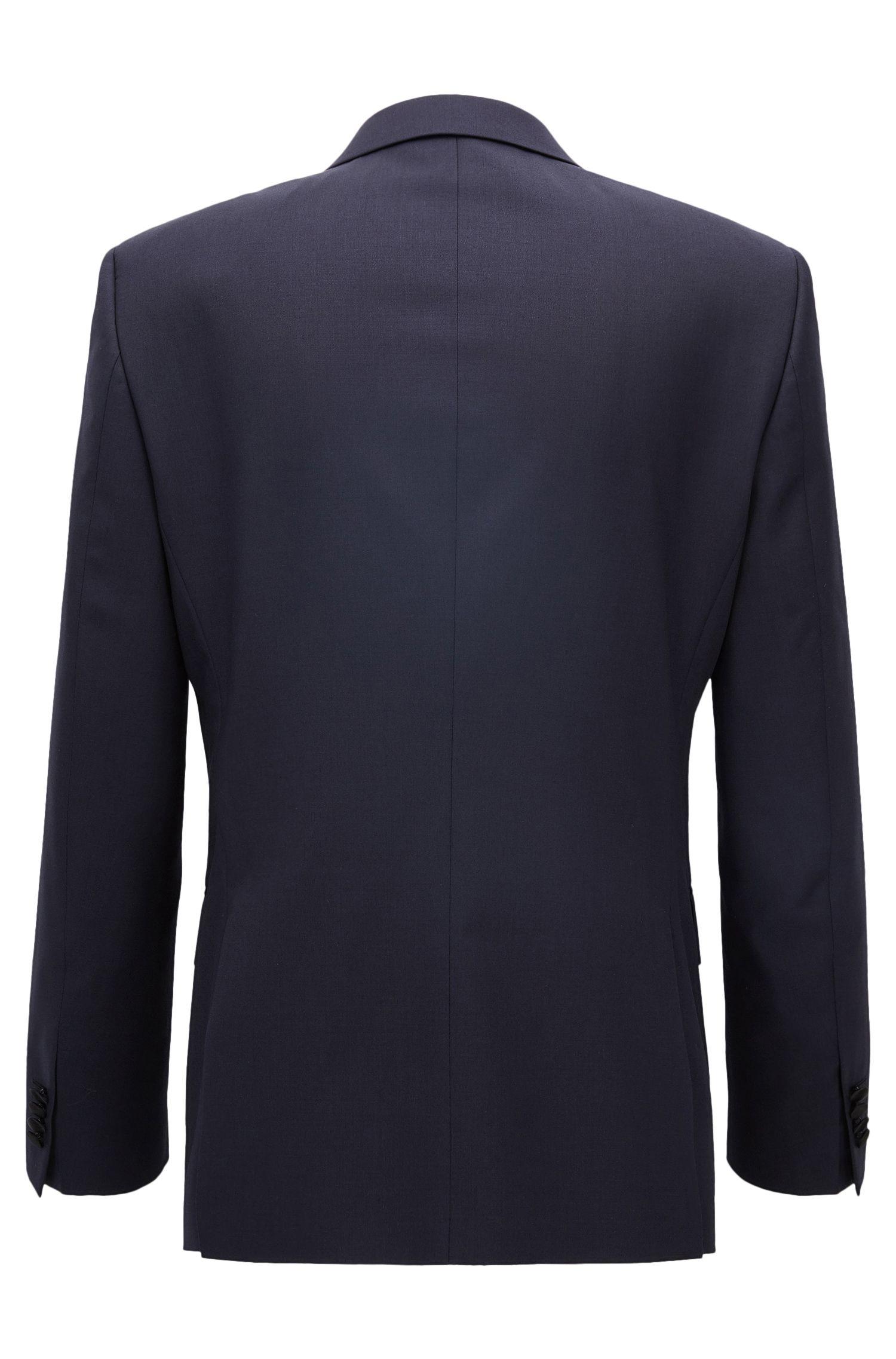 Italian Virgin Wool Suit Jacket, Slim Fit | Hence CYL, Dark Blue