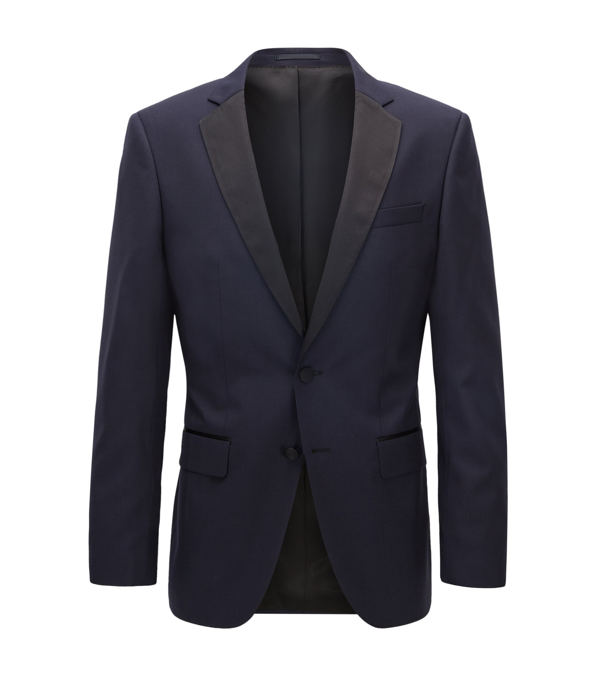 Italian Virgin Wool Suit Jacket, Slim Fit | Hence CYL, Dark Blue