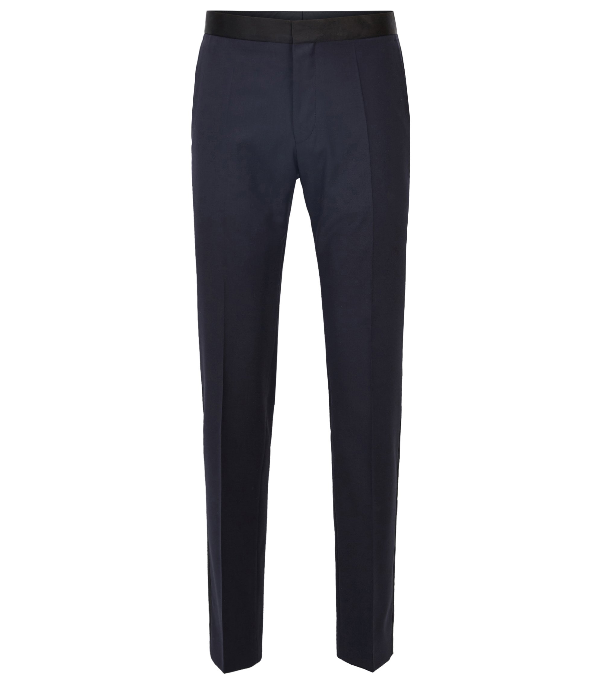 Italian Virgin Wool Pant, Slim Fit | Gilan CYL, Dark Blue