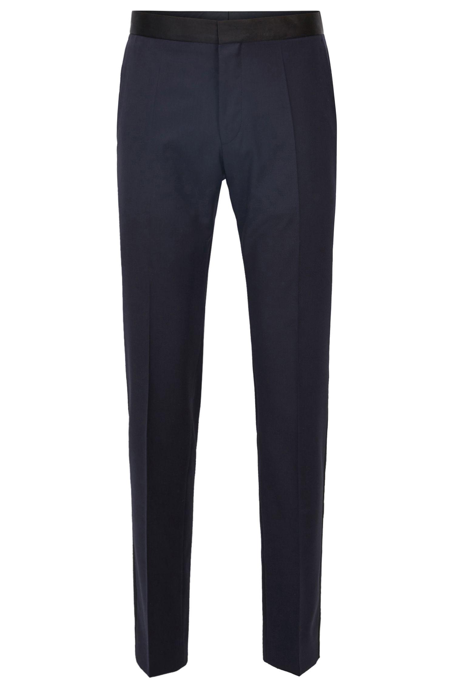 Italian Virgin Wool Pant, Slim Fit | Gilan CYL, Dark Blue