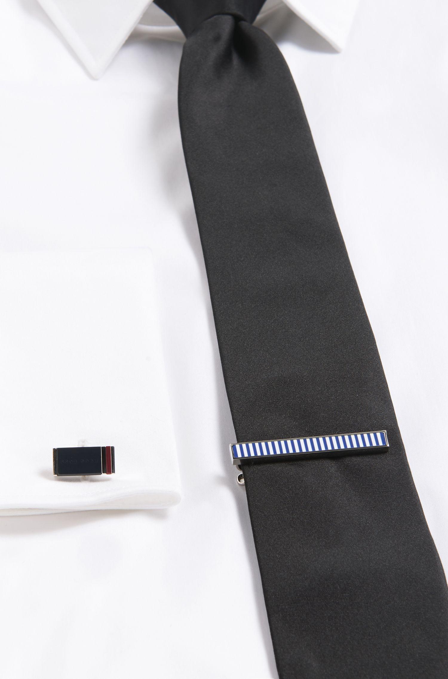 Enamel & Brass Tie Clip | Taylor, Blue