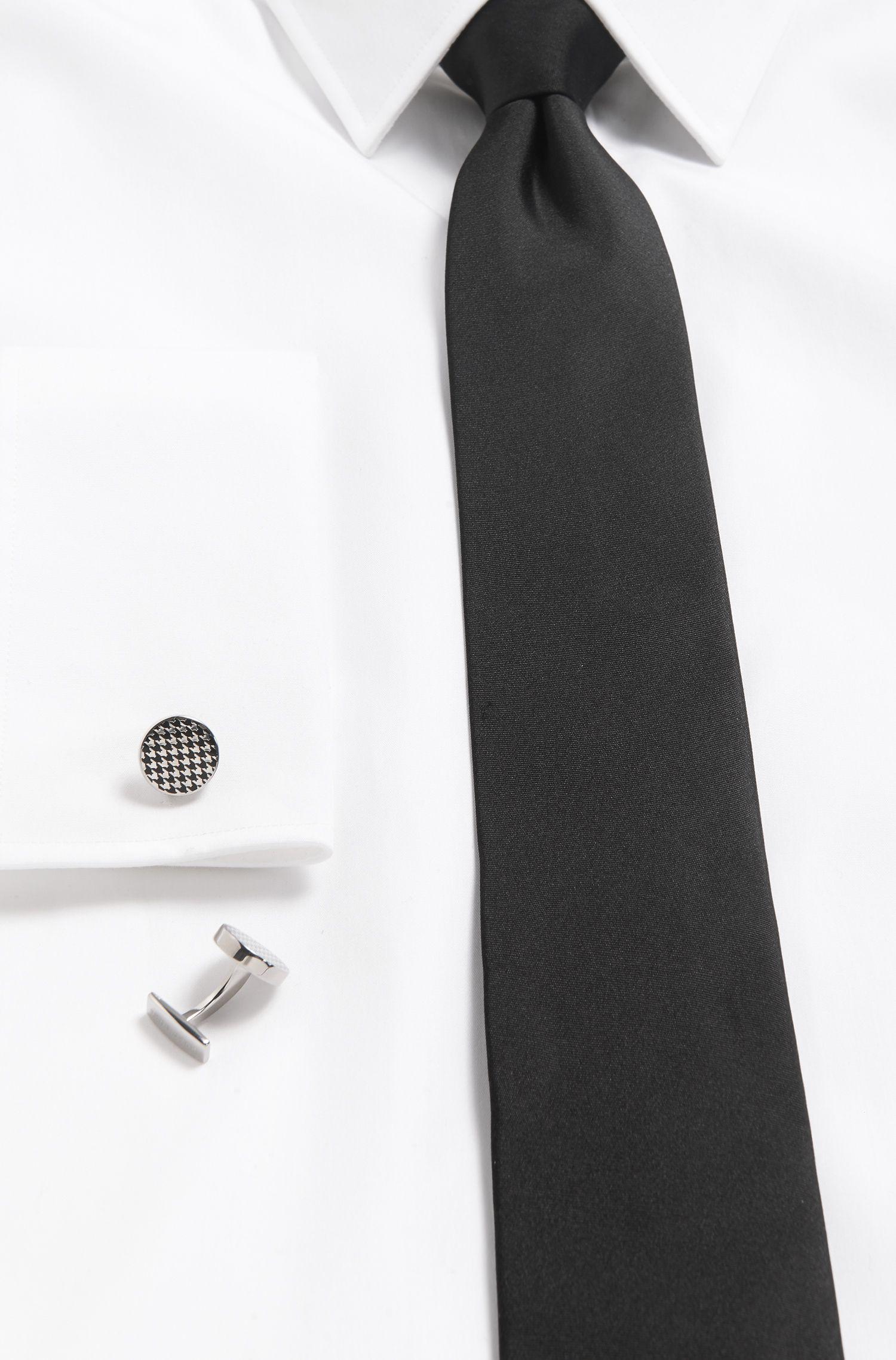 Houndstooth Enamel & Brass Cufflinks | Andrew