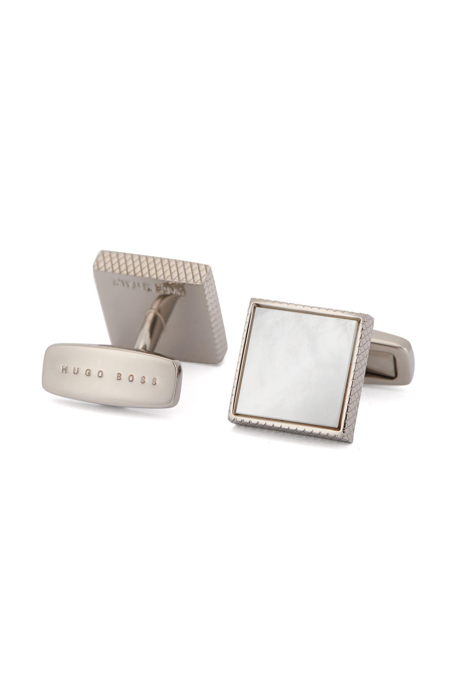 Mother-Of-Pearl Brass Cufflinks | T-Mark
