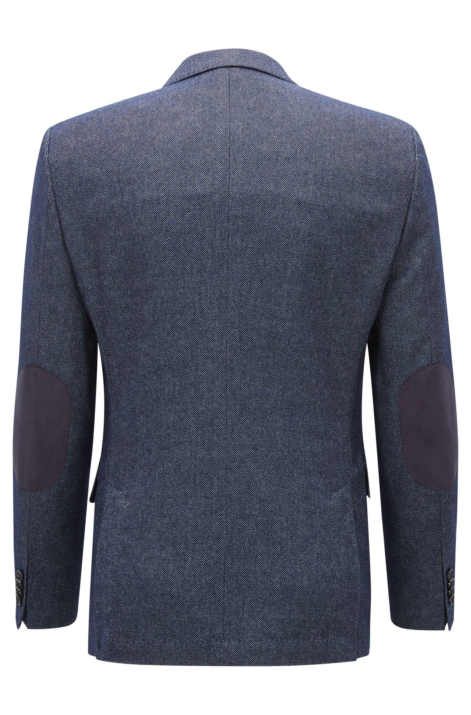 Melange Stretch Virgin Wool Sport Coat, Regular Fit | Jestor, Blue