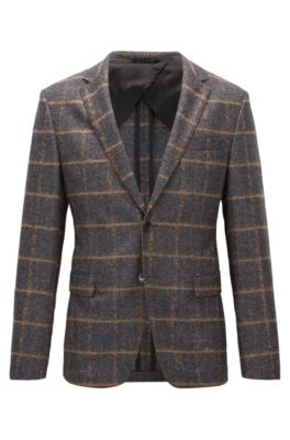 Virgin Wool Sport Coat, Slim Fit | Nobis , Open Grey