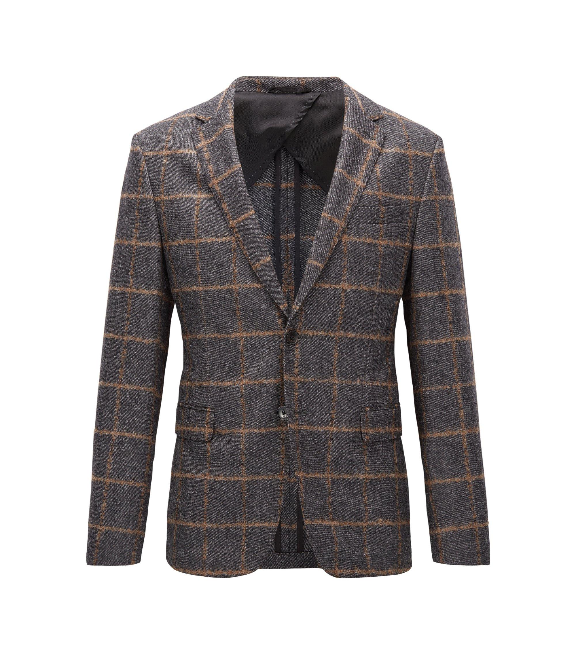 Virgin Wool Sport Coat, Slim Fit | Nobis , Open Grey