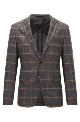 Virgin Wool Sport Coat, Slim Fit   Nobis , Open Grey