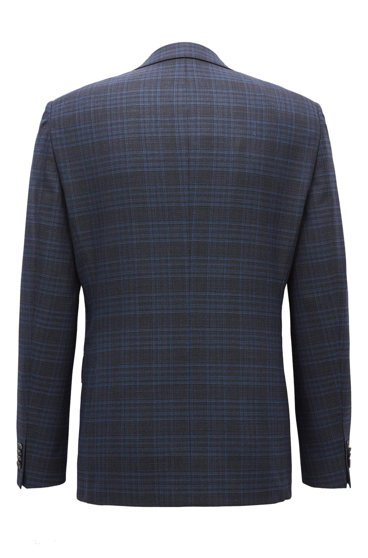 Plaid Stretch Wool Sport Coat, Regular Fit | Jeen