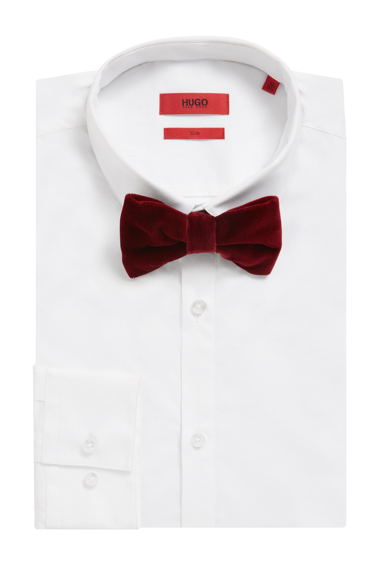 Velvet Bow Tie, Dark Red