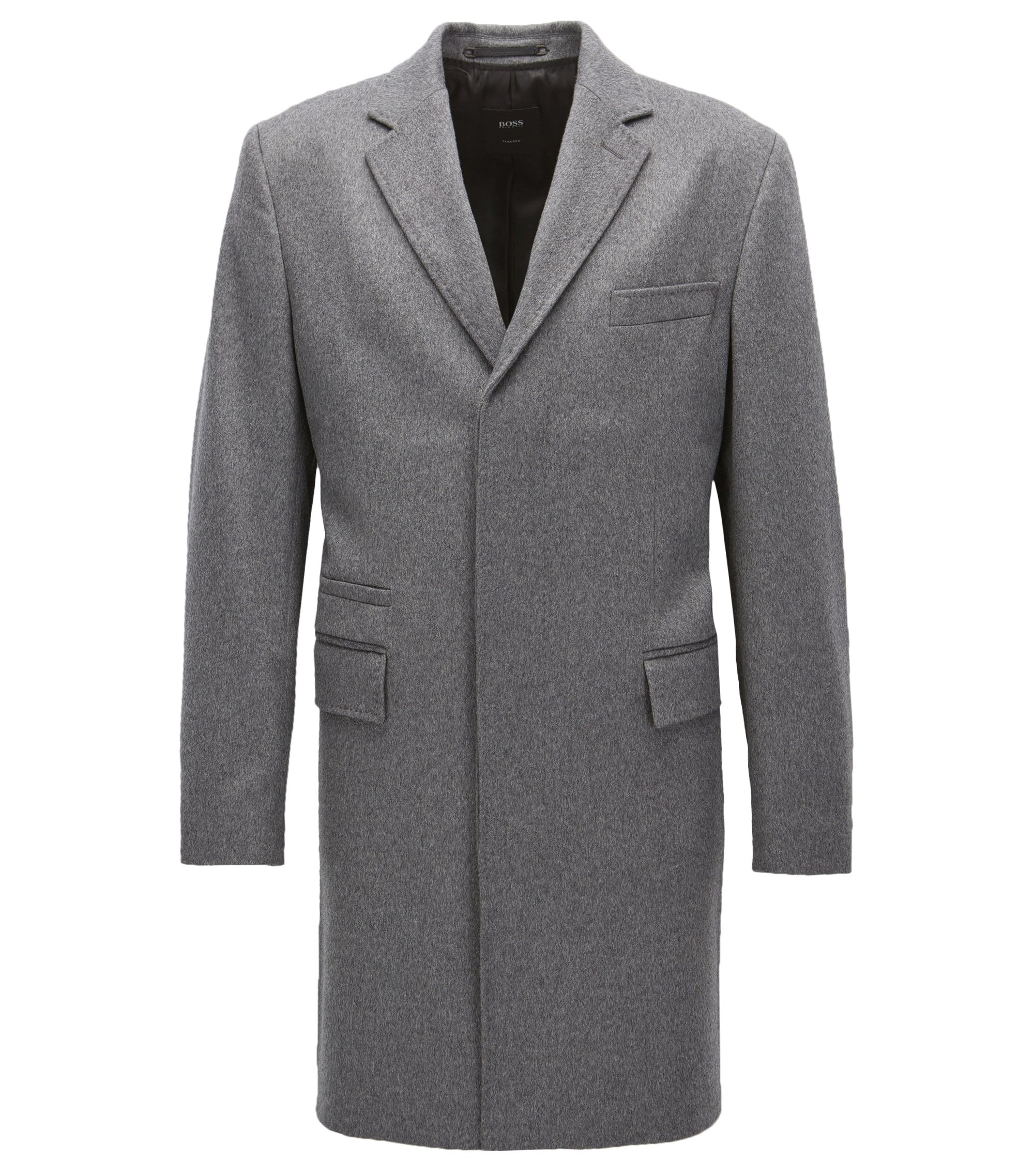 Cashmere Top Coat | T-Neon, Grey
