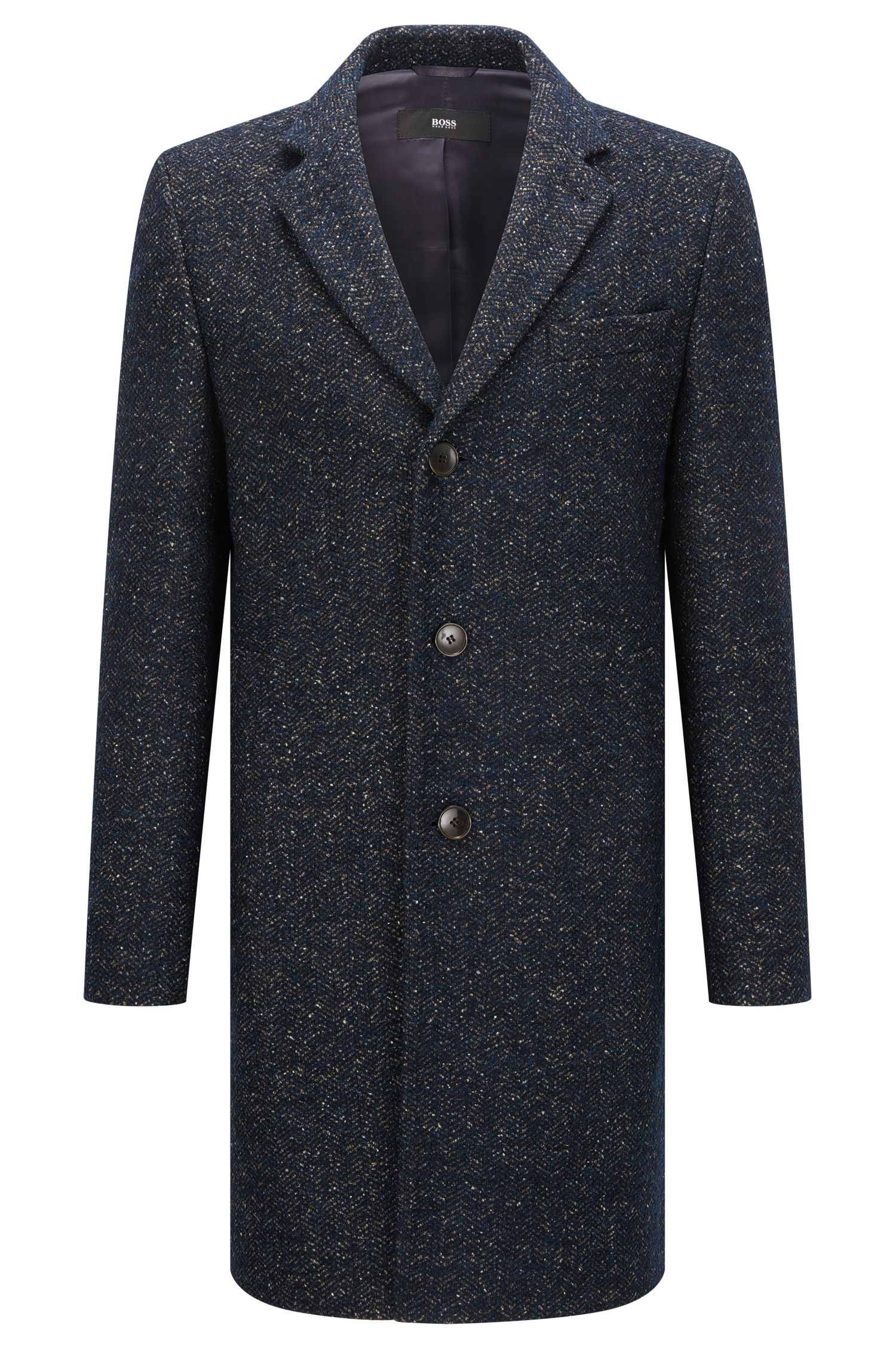 Virgin Wool Blend Twill Coat | Nye