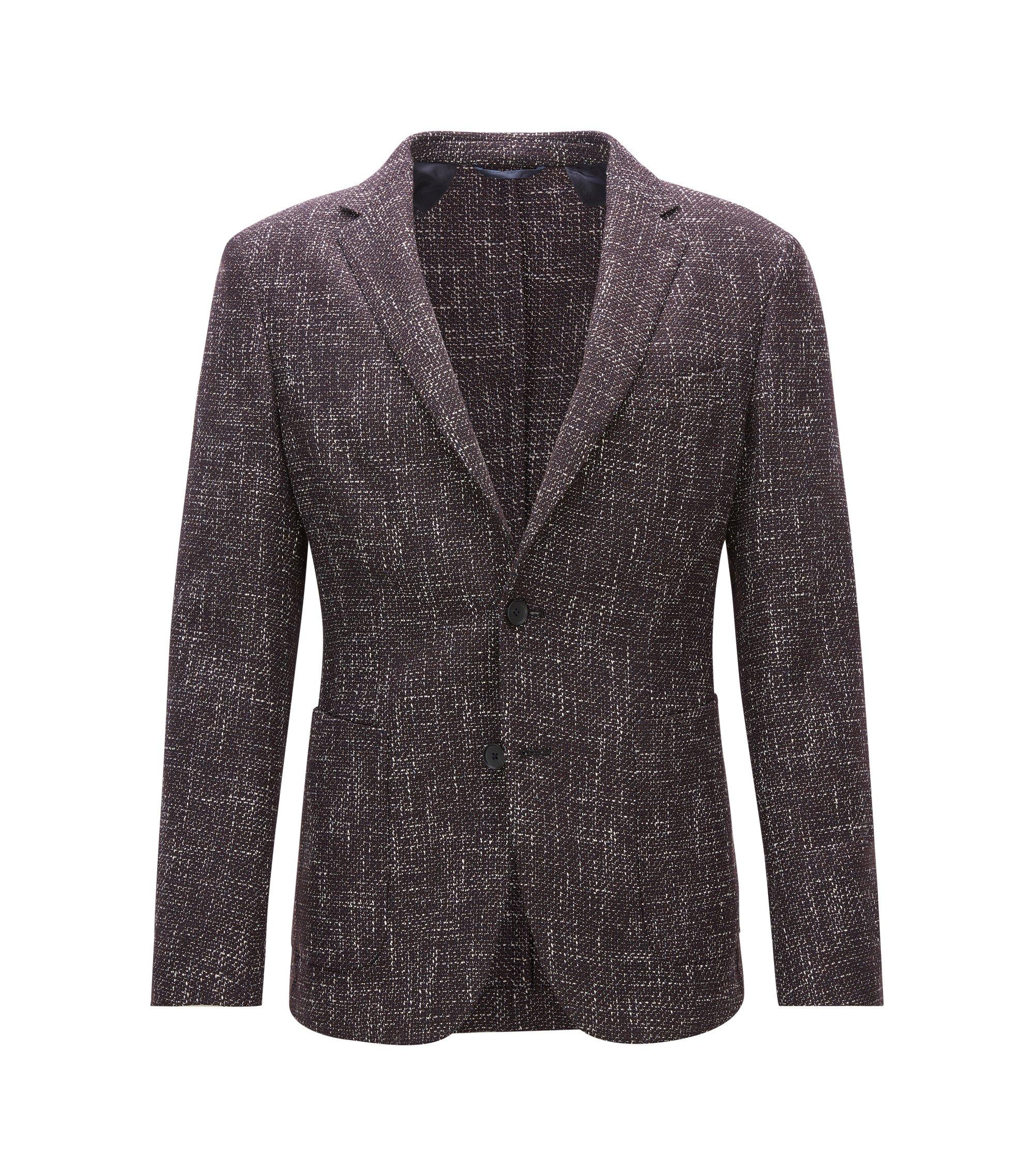 Virgin Wool Blend Tweed Sport Coat, Slim Fit   Nold, Dark Red
